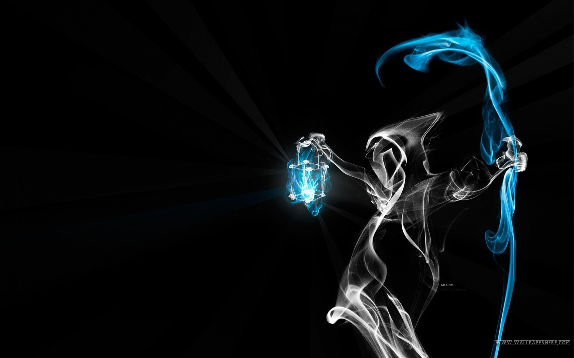 Ghost Smoke. SHARE. TAGS: Art Blue Abstract Black