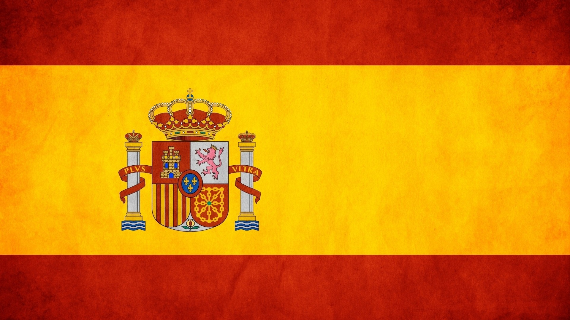 Preview wallpaper yellow, red, flag, spain 1920×1080