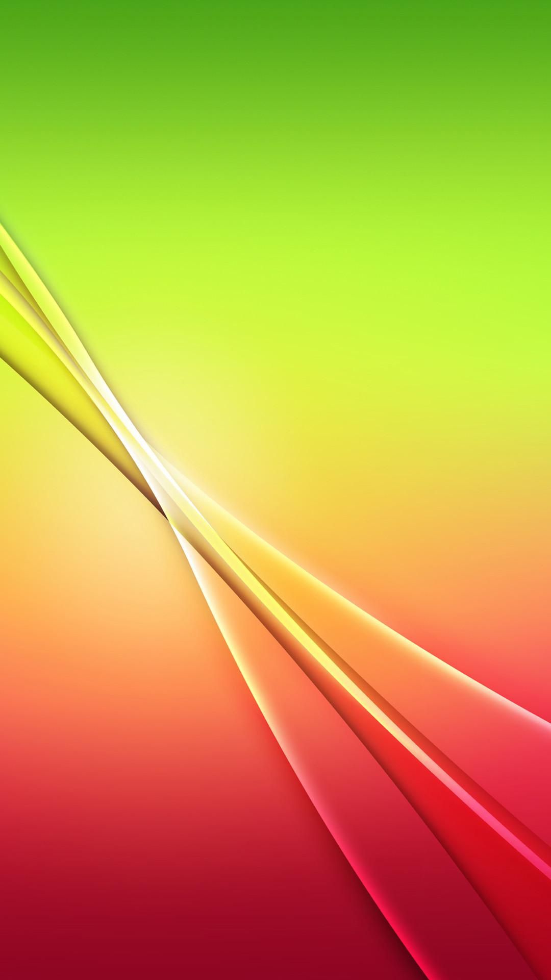 グリーンとレッドのシンプルな壁紙 : iPhone6用(4.7インチ)の壁紙