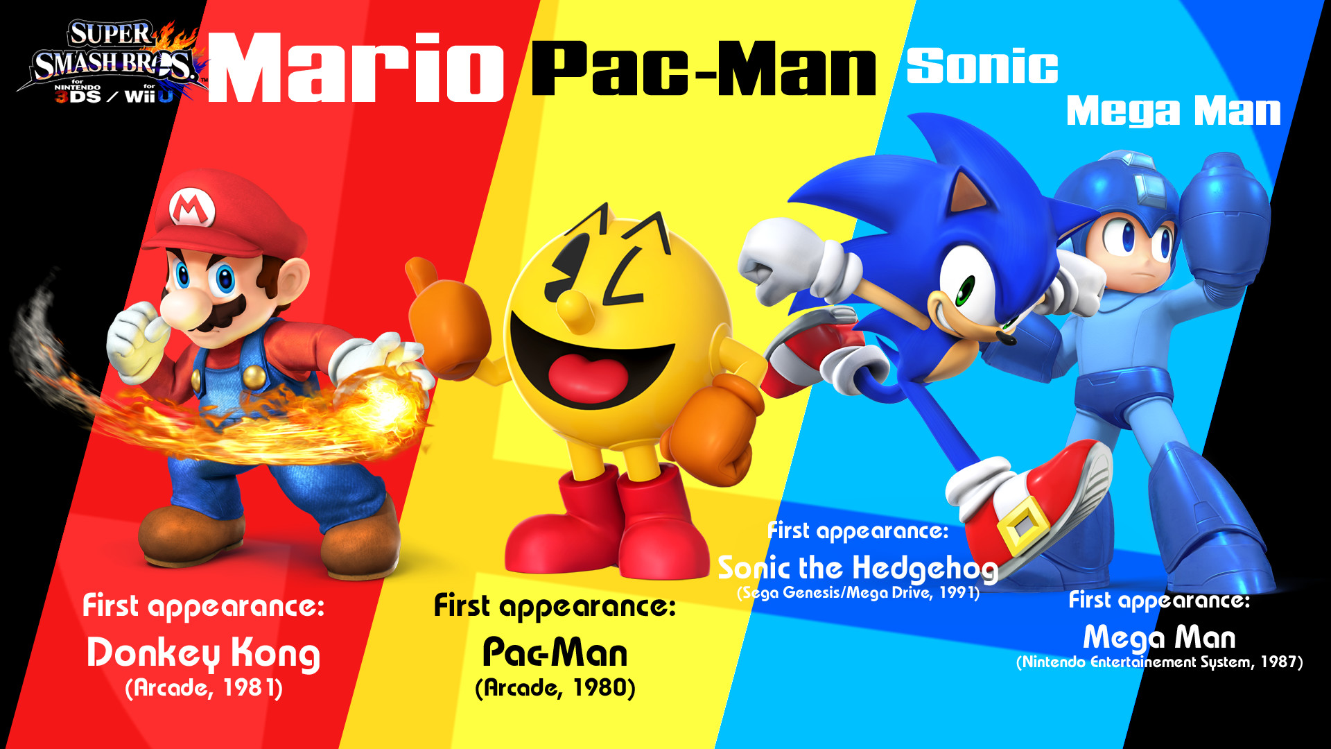 … MaxiGamer Red, Blue and Yellow – SSB4 Wallpaper by MaxiGamer