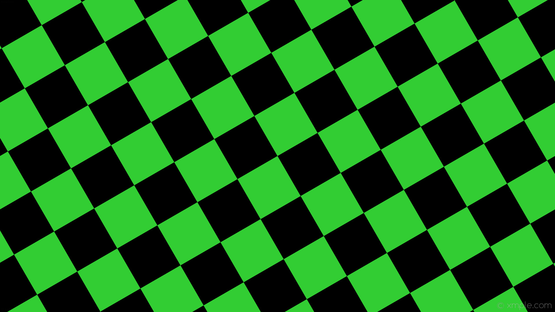 wallpaper black green checkered squares lime green #000000 #32cd32 diagonal  30° 160px