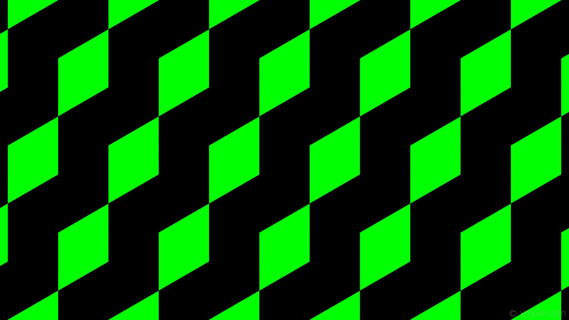 wallpaper 3d cubes green black lime #000000 #00ff00 #000000 300° 196px