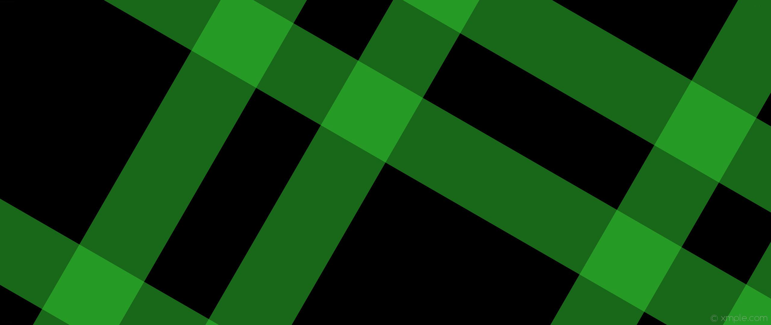wallpaper striped green black gingham dual lime green #000000 #32cd32 150°  248px
