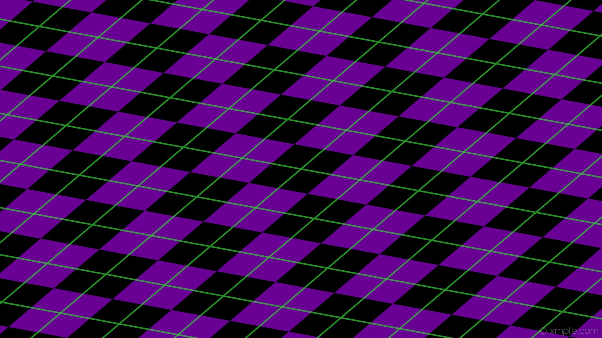 wallpaper green diamonds lines purple argyle black dark violet lime green  #000000 #9400d3 #