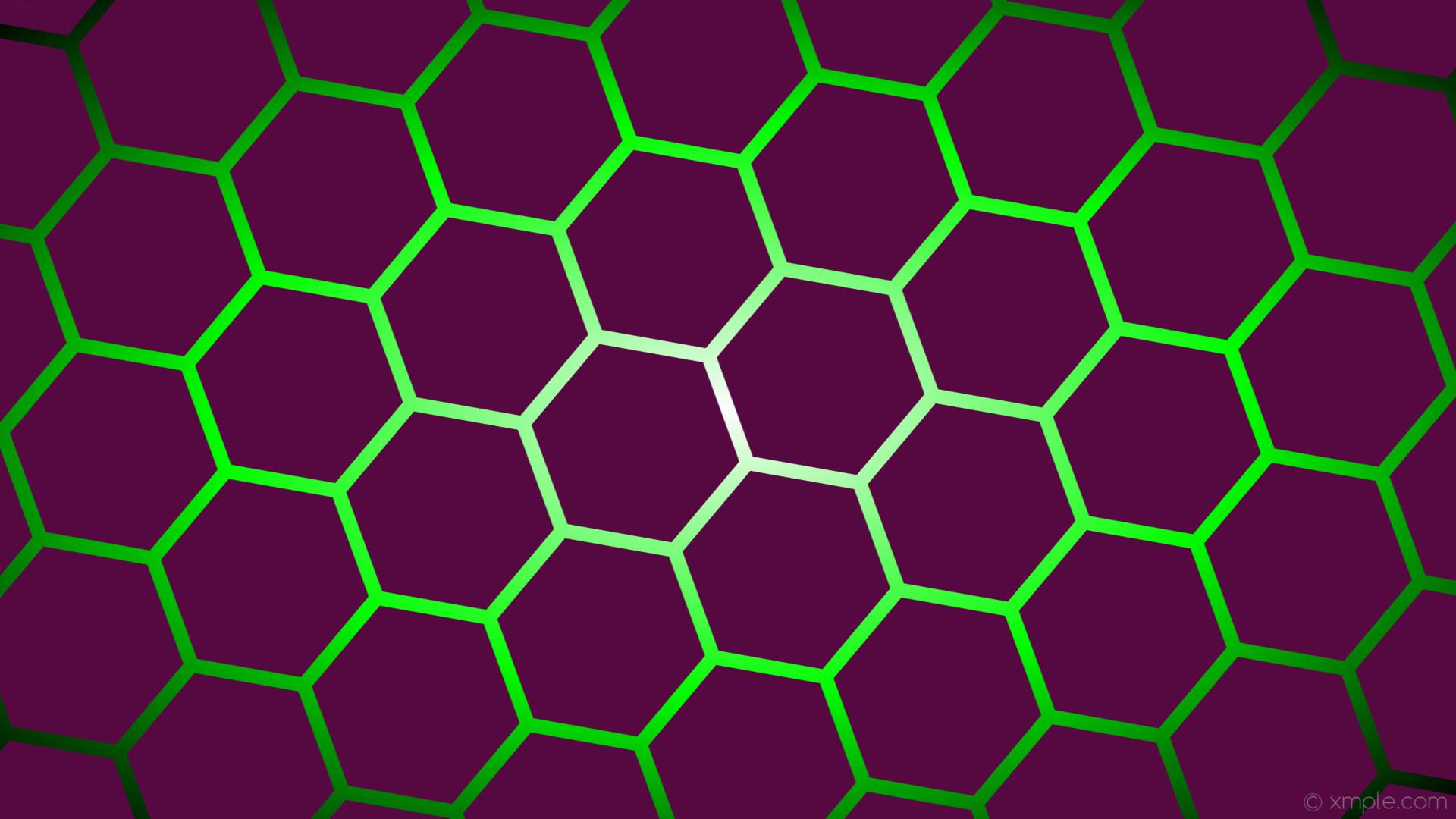 wallpaper gradient green white black hexagon pink glow dark pink lime  #560940 #ffffff #