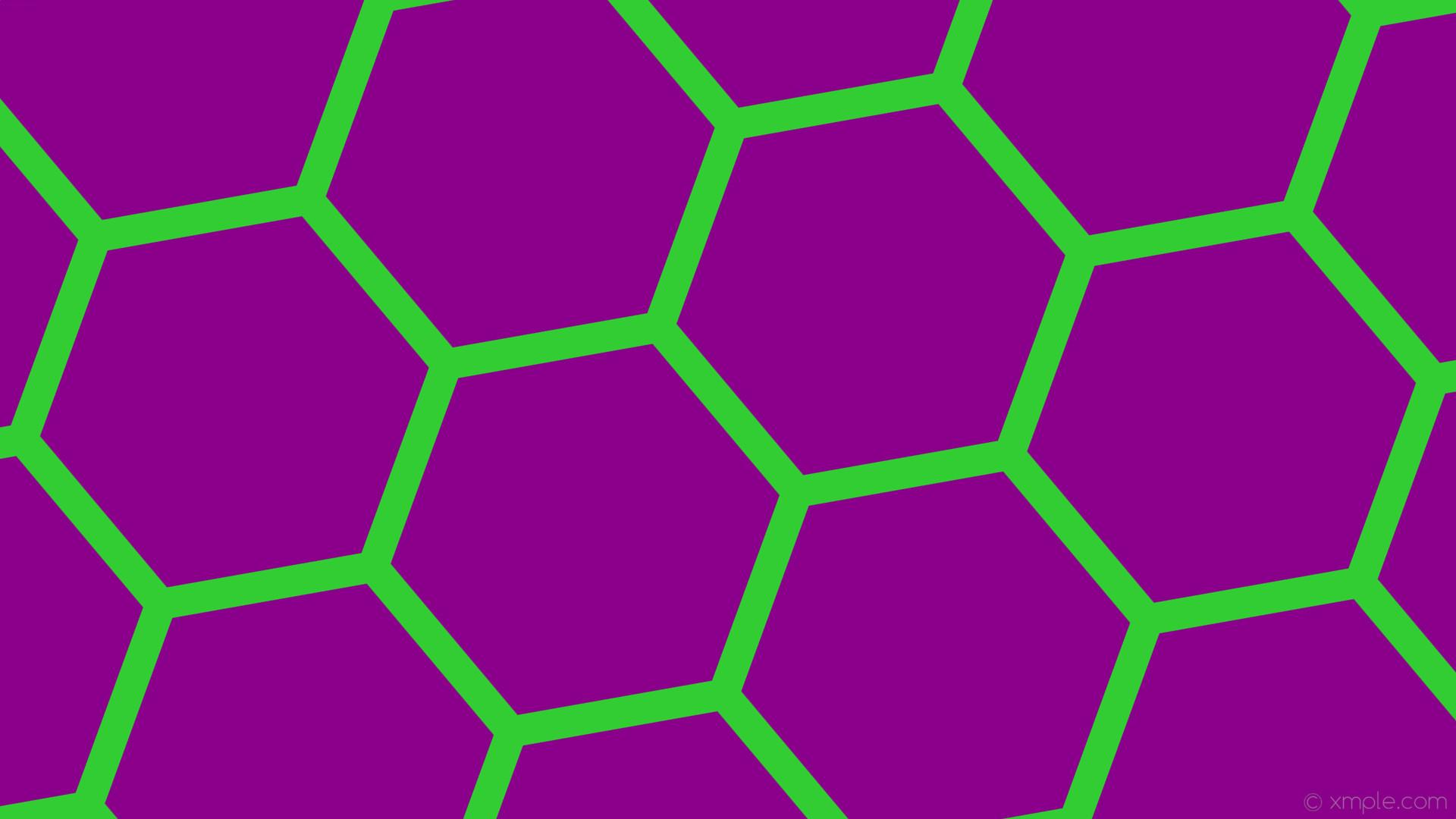 wallpaper purple hexagon beehive honeycomb green dark magenta lime green  #8b008b #32cd32 diagonal 40