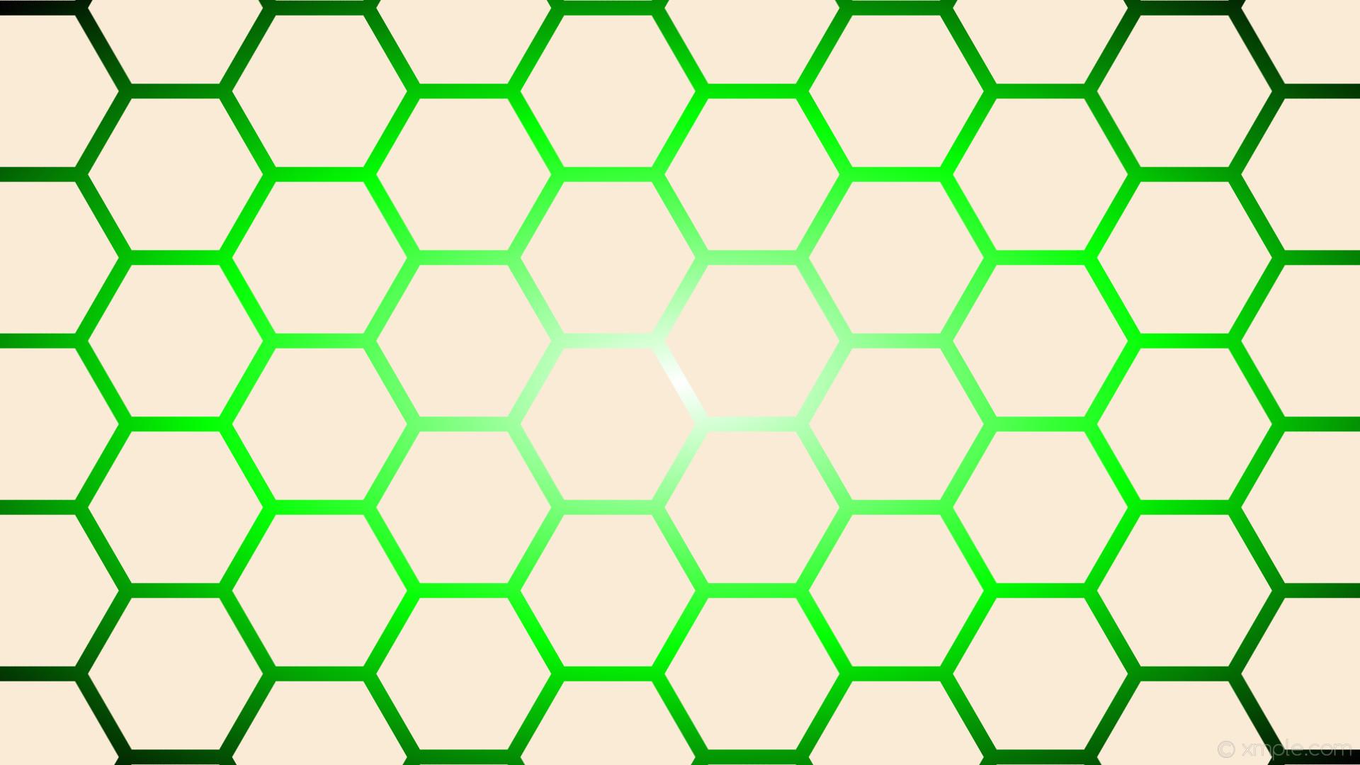 wallpaper glow green white gradient hexagon black antique white lime  #faebd7 #ffffff #00ff00