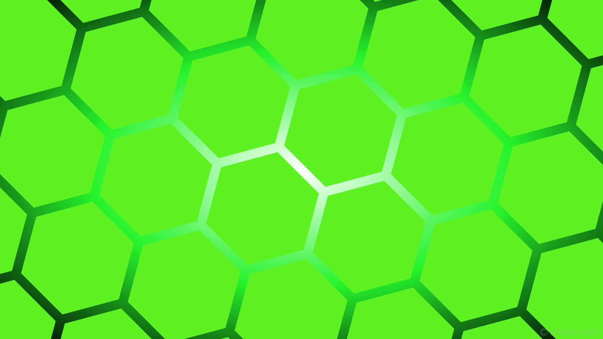 wallpaper white glow lime hexagon black gradient green #5cf224 #ffffff  #24f22a diagonal 45