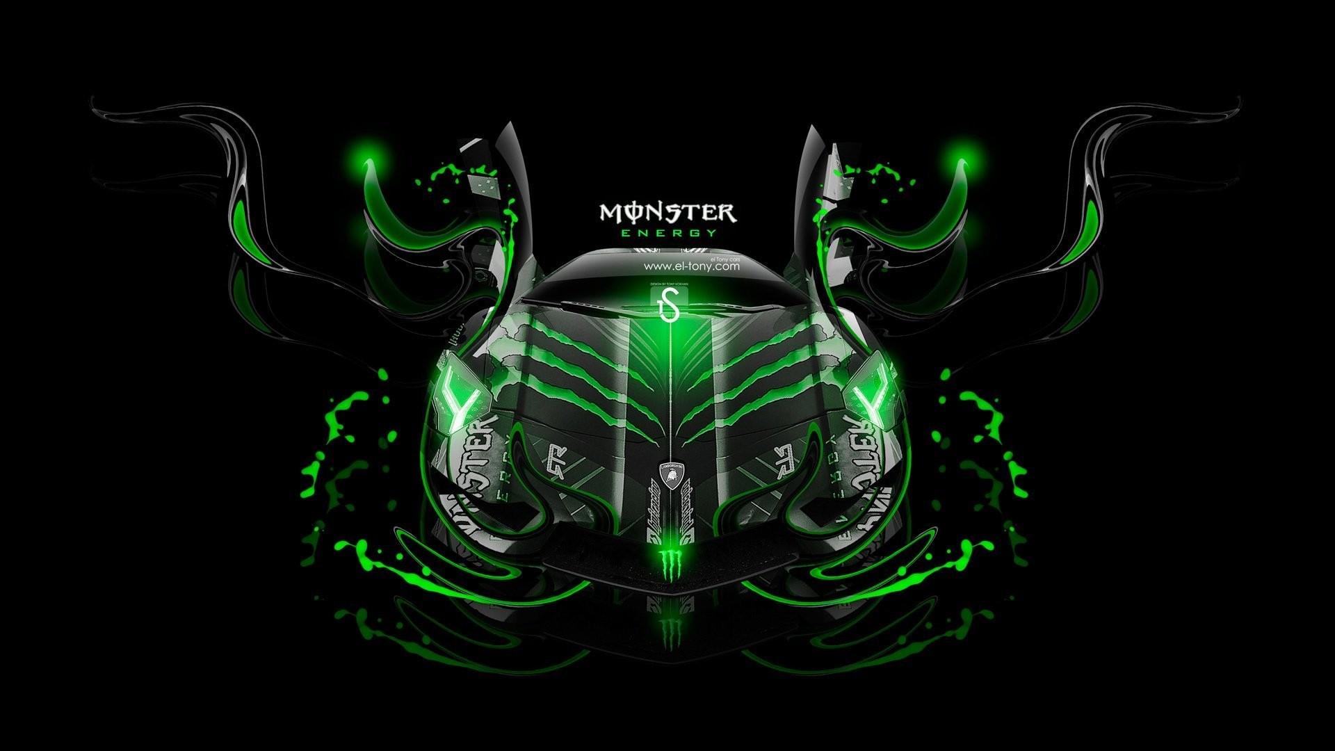 lamborghini aventador monster energy fantasy neon green el tony cars tony  kokhan design black lamborghini monster
