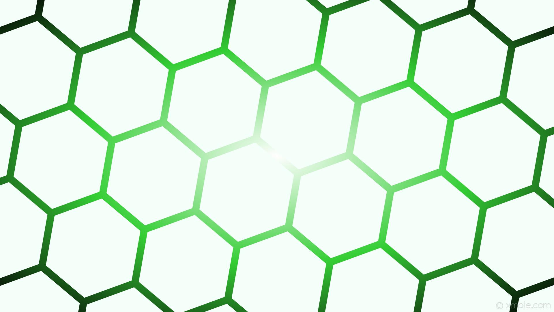 wallpaper glow gradient green black white hexagon mint cream lime green  #f5fffa #ffffff #