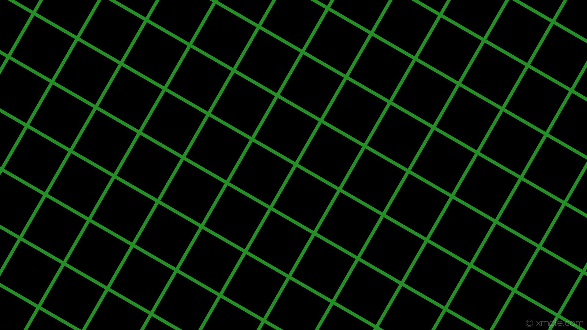 wallpaper graph paper black green grid lime green #000000 #32cd32 60° 11px  165px