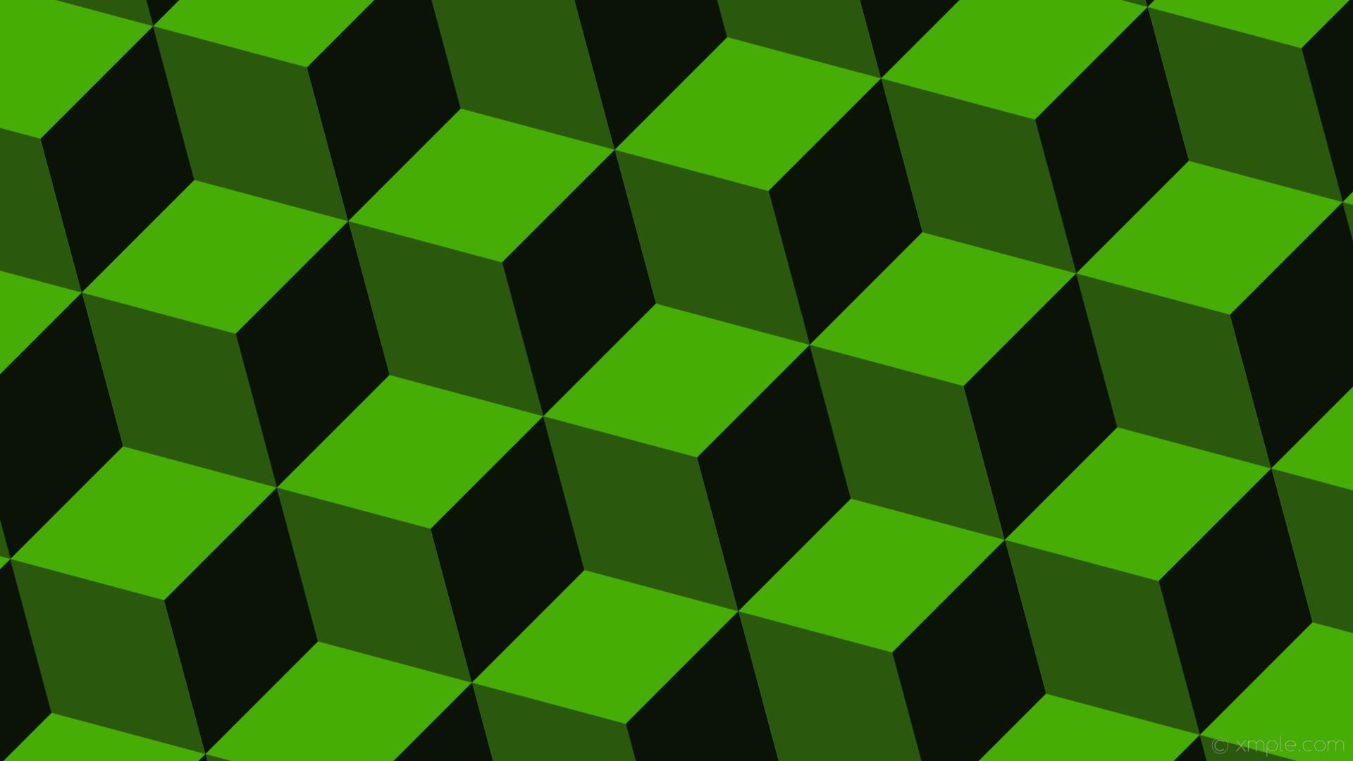 wallpaper black 3d cubes lime dark lime #46ad04 #2a580d #0b1206 195° 226px
