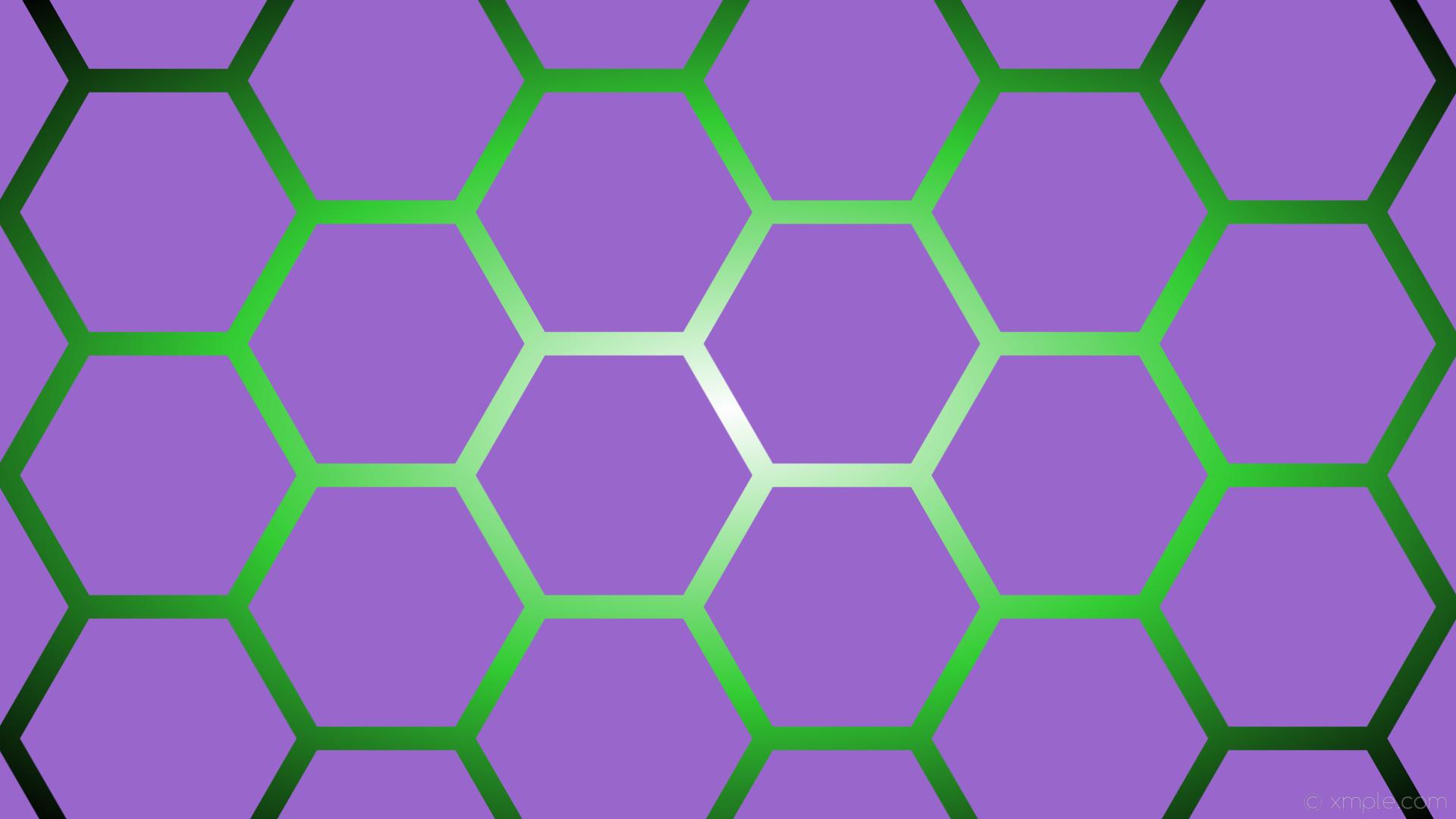 wallpaper glow gradient green hexagon white black purple amethyst lime green  #9966cc #ffffff #