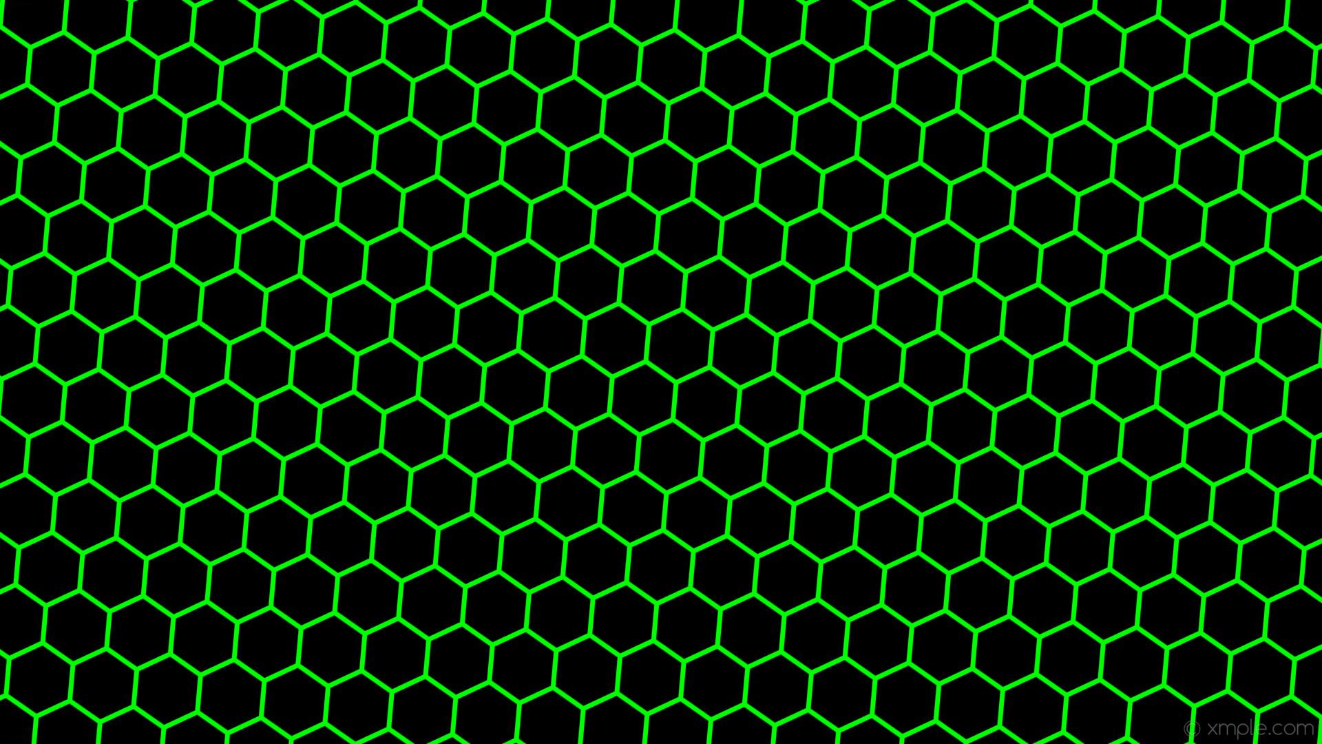 wallpaper honeycomb black beehive hexagon green lime #000000 #00ff00  diagonal 55° 7px 93px