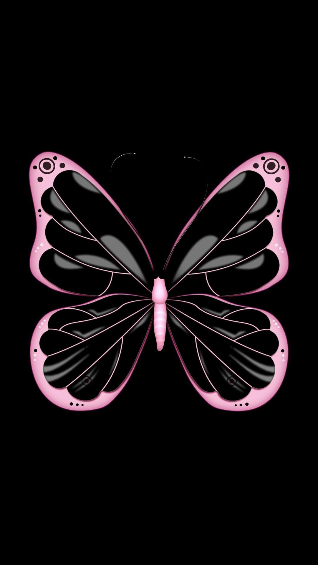 Black & Pink Butterfly. Wallpaper SWallpaper BackgroundsIphone …
