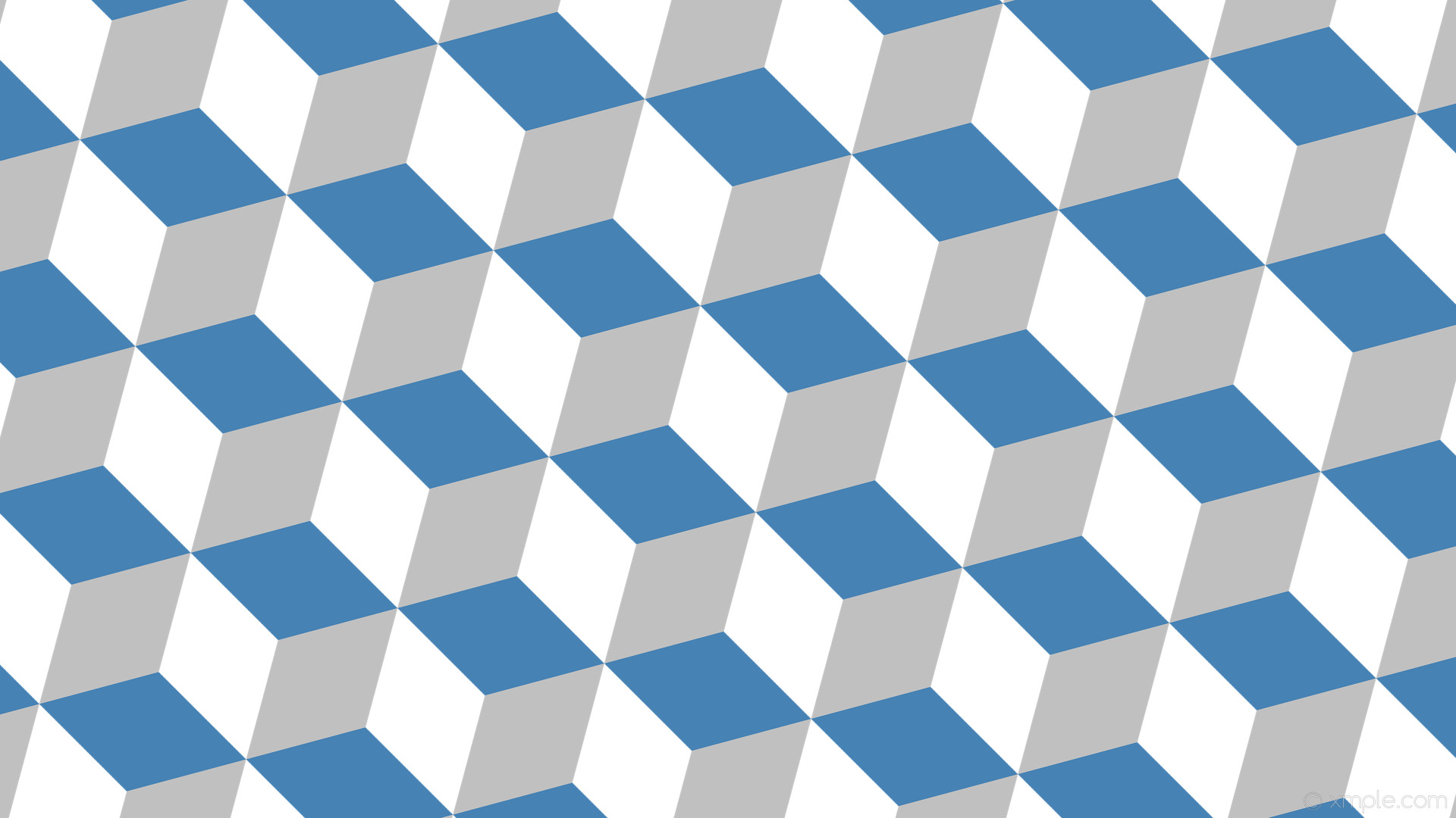wallpaper blue grey 3d cubes white silver steel blue #ffffff #c0c0c0  #4682b4 285