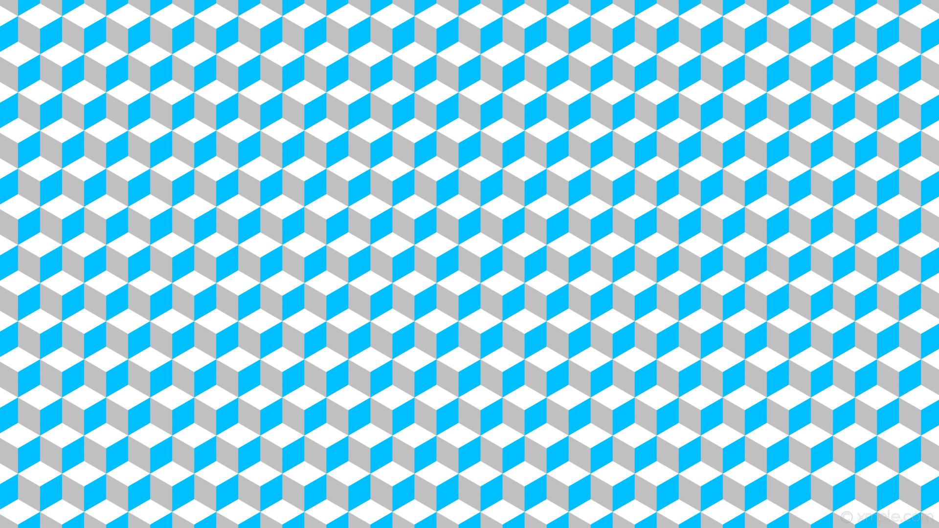 wallpaper grey 3d cubes white blue silver deep sky blue #c0c0c0 #00bfff  #ffffff