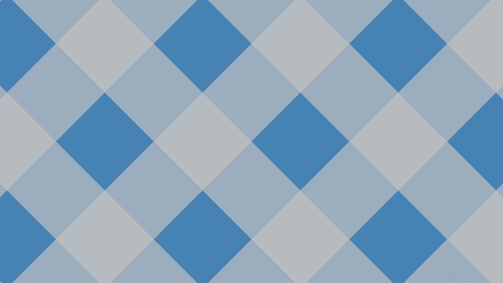 wallpaper striped grey checker gingham blue steel blue silver #4682b4  #c0c0c0 225° 264px