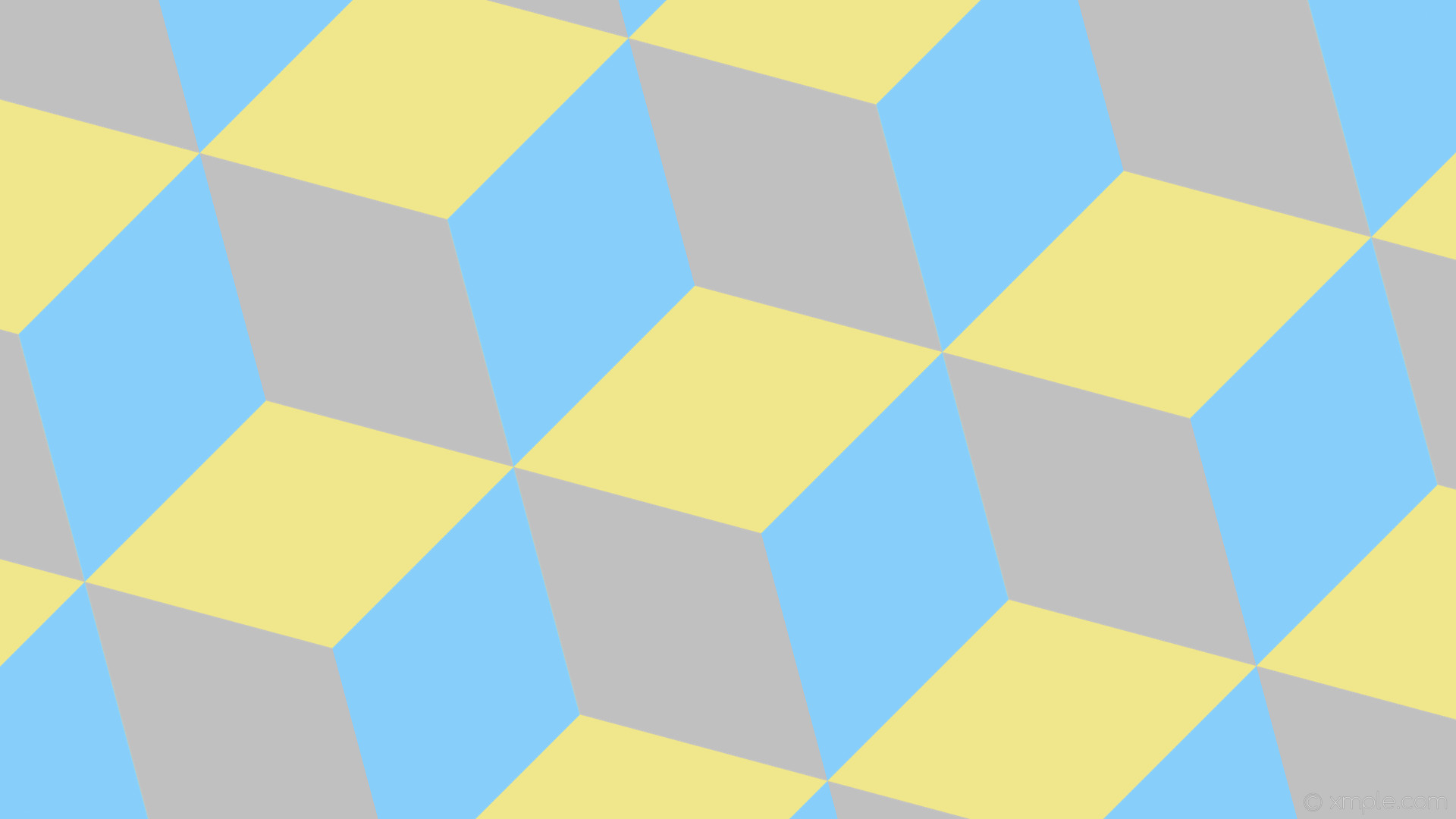 wallpaper blue grey yellow 3d cubes khaki silver light sky blue #f0e68c  #c0c0c0 #