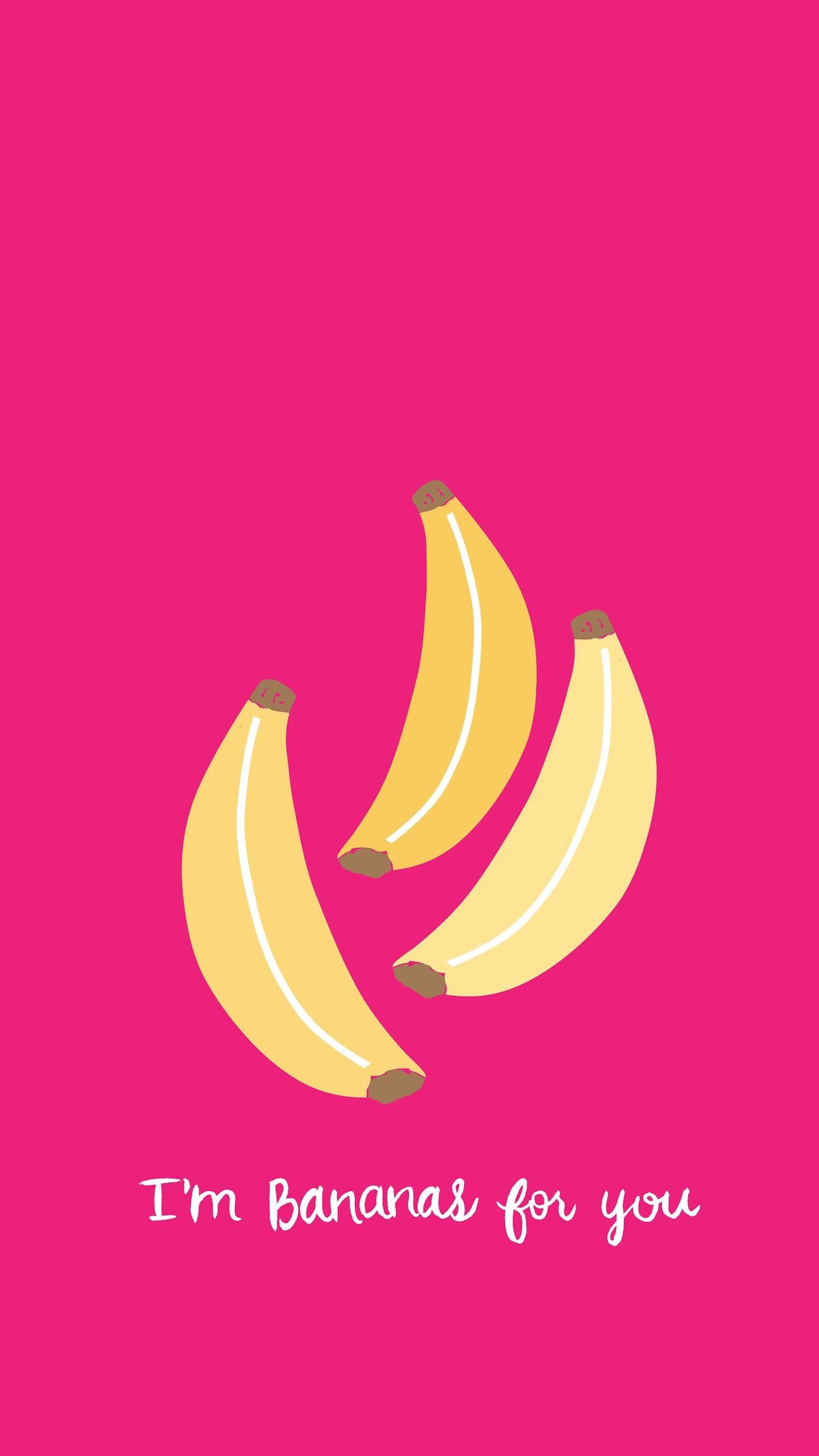 Banana Love Pink iPhone Wallpaper @PanPins