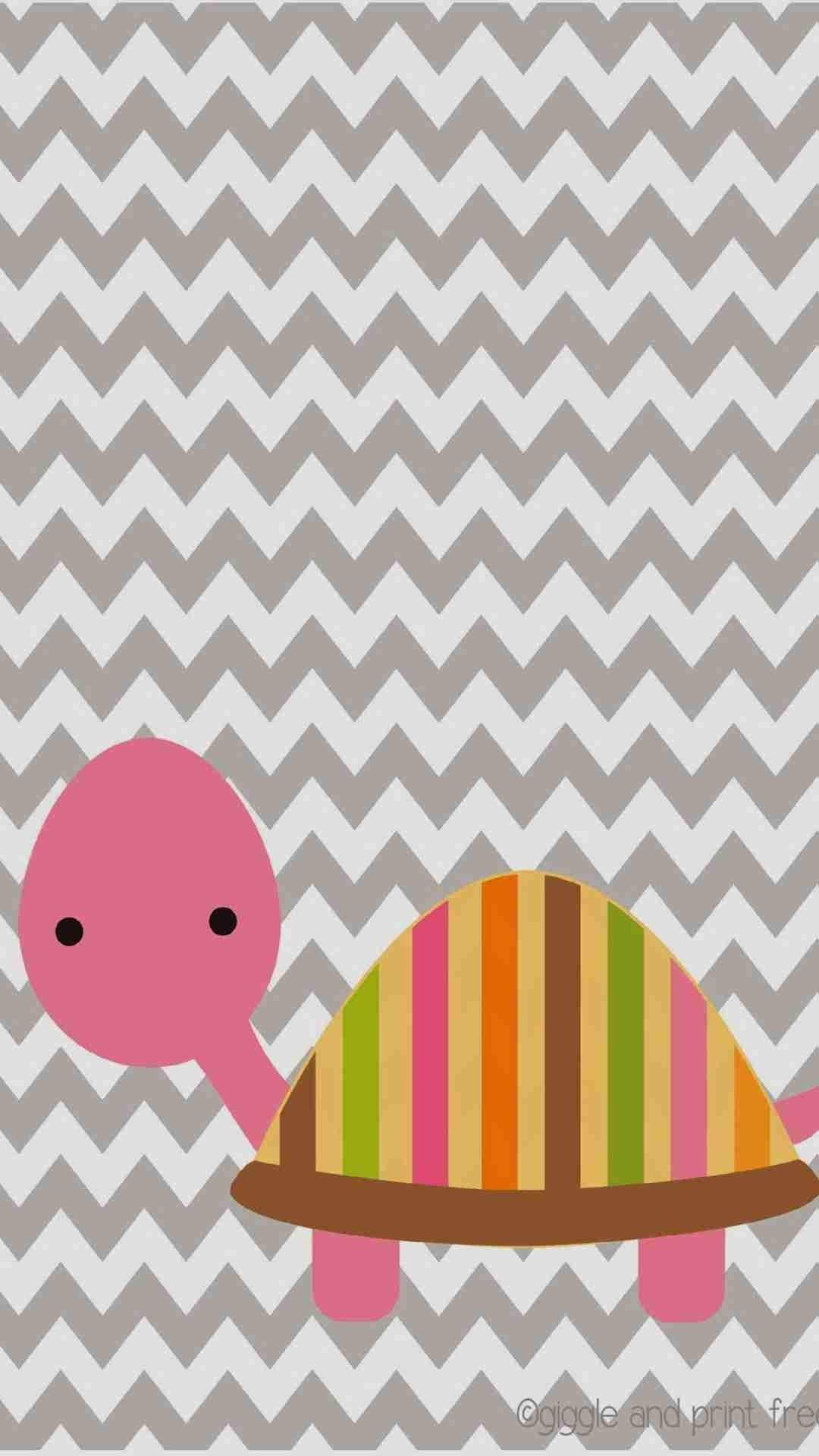 DIY Cute Pink Tortoise Pattern Chevron iPhone 6 Plus Wallpaper – Zigzag  Pattern #iPhone #