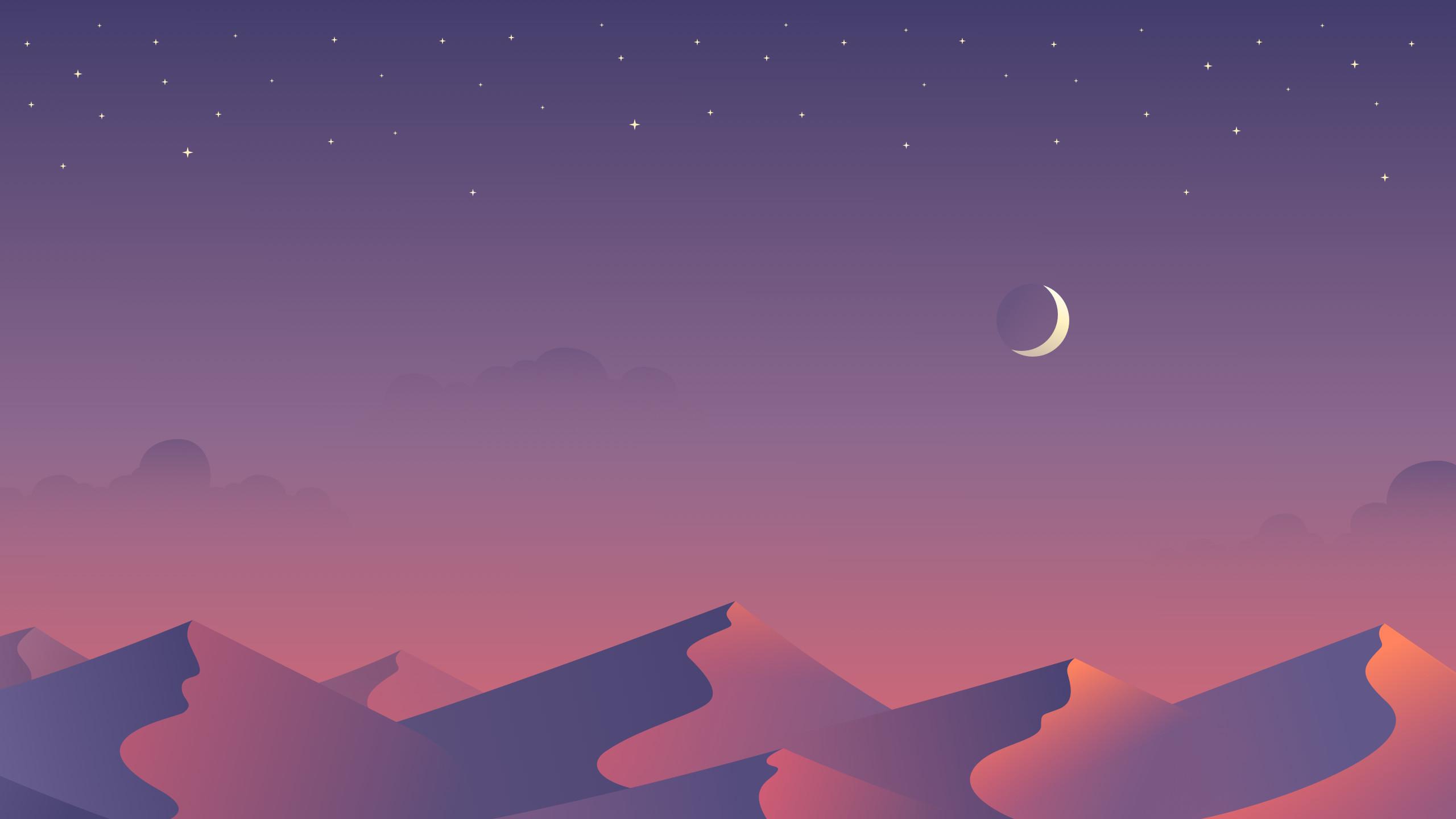 Desert Night Desktop Wallpaper by Maria Shanina