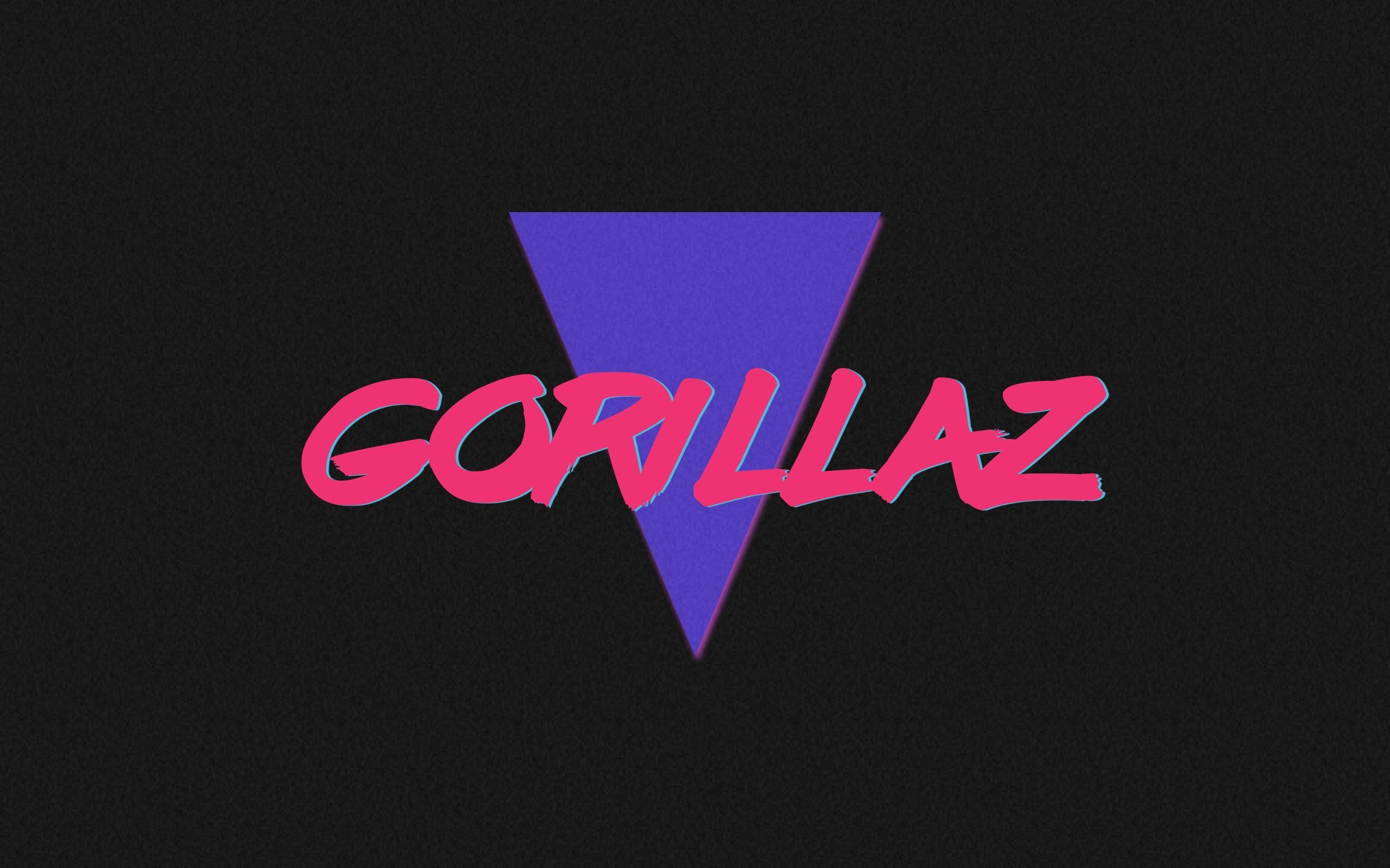 80's inspired Gorillaz wallpaper I made today.