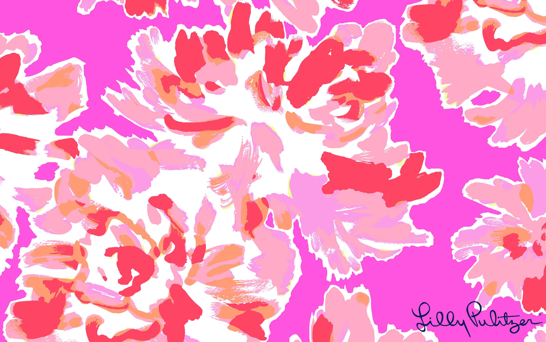 pink Serenade floral desktop Wallpaper
