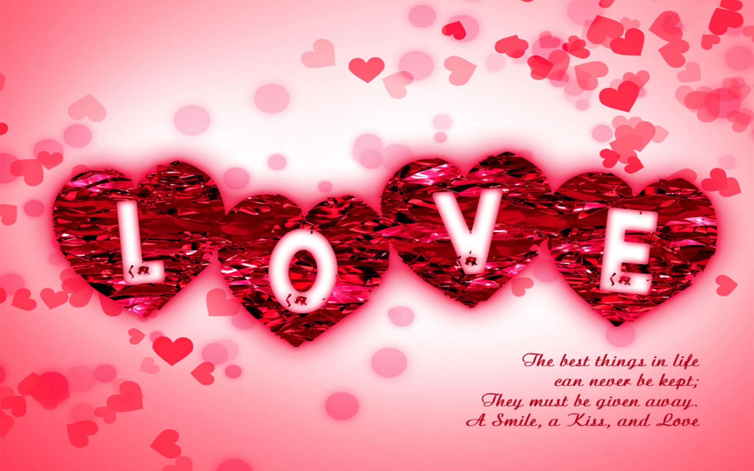 Love Message Pink Desktop Wallpaper-2560×1600