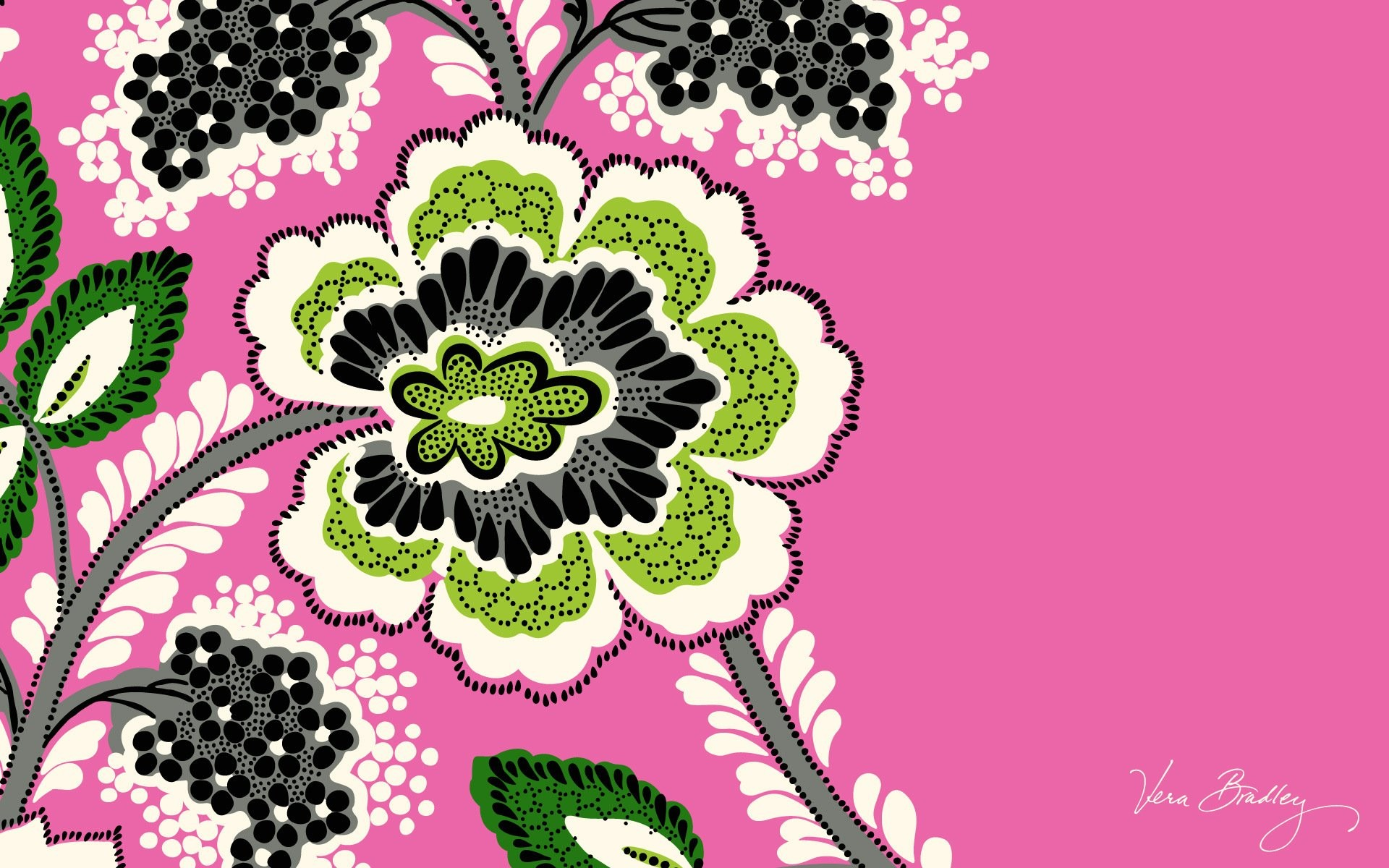 Pink Desktop Wallpaper And Background With Vera Bradley Wallpaper For  Modern Home Office