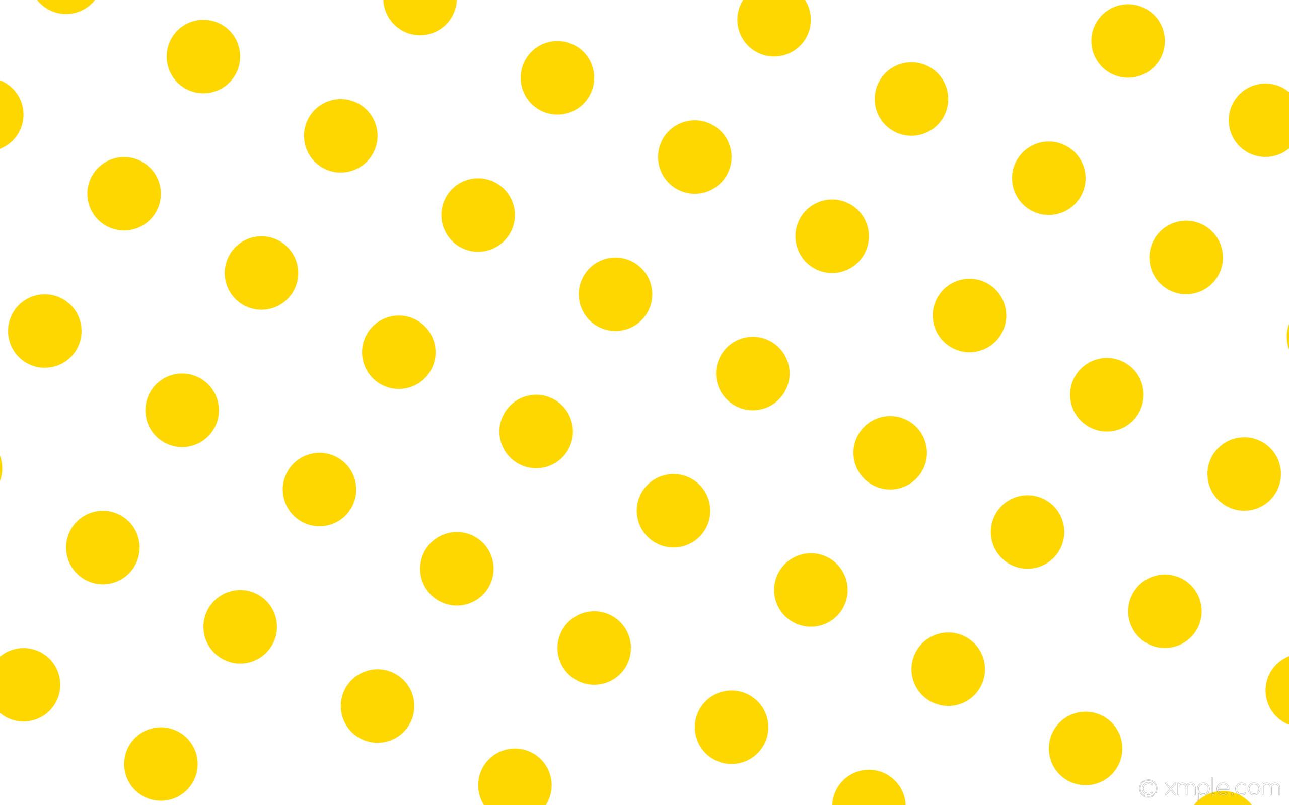 wallpaper white polka dots spots yellow gold #ffffff #ffd700 240° 146px  315px