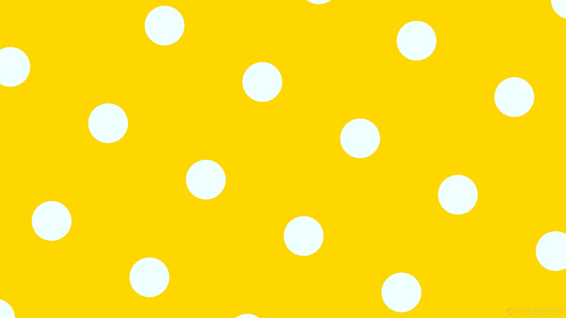 wallpaper polka dots spots yellow white gold azure #ffd700 #f0ffff 150°  135px 383px
