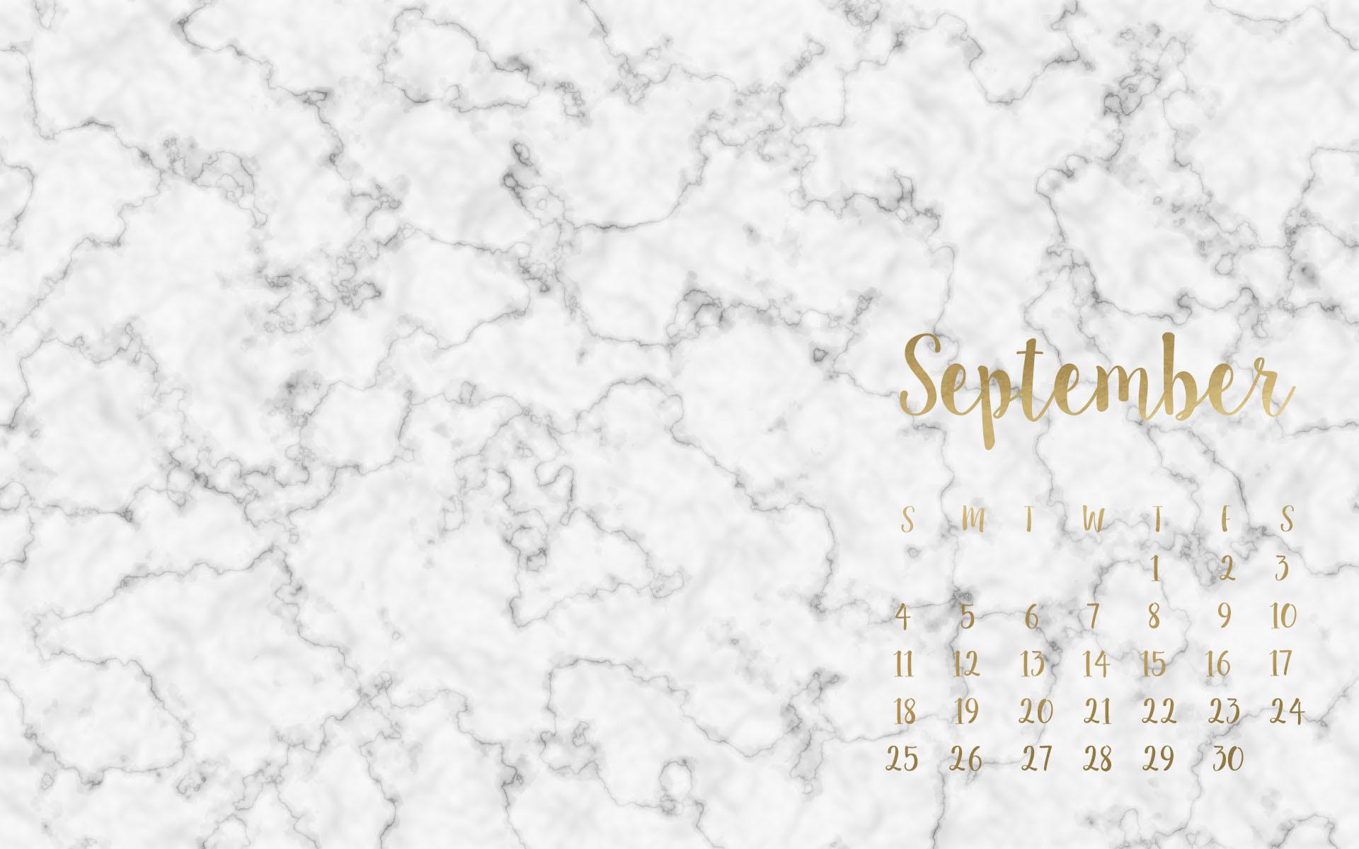Marble & Gold Calendar