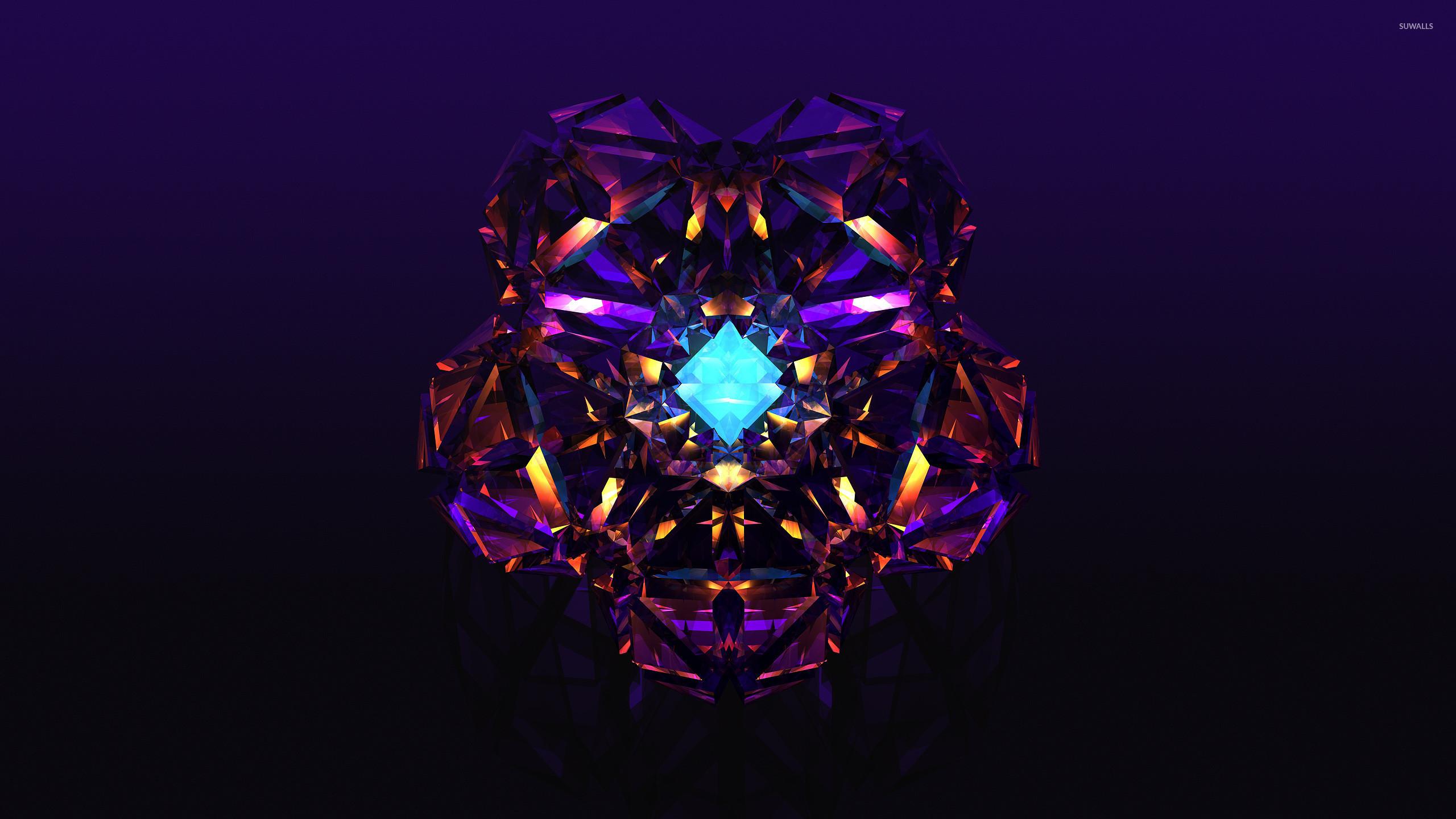 Purple diamond wallpaper