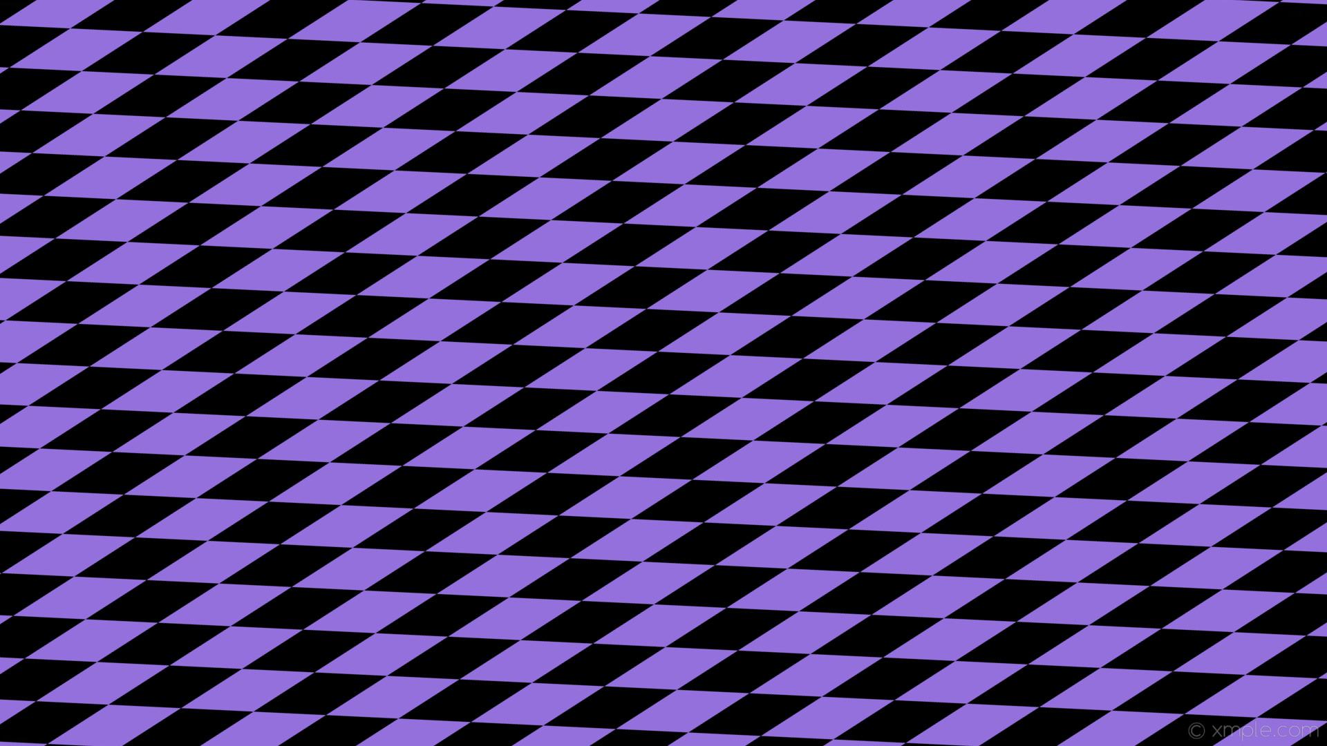 wallpaper rhombus purple black diamond lozenge medium purple #000000  #9370db 15° 200px 64px