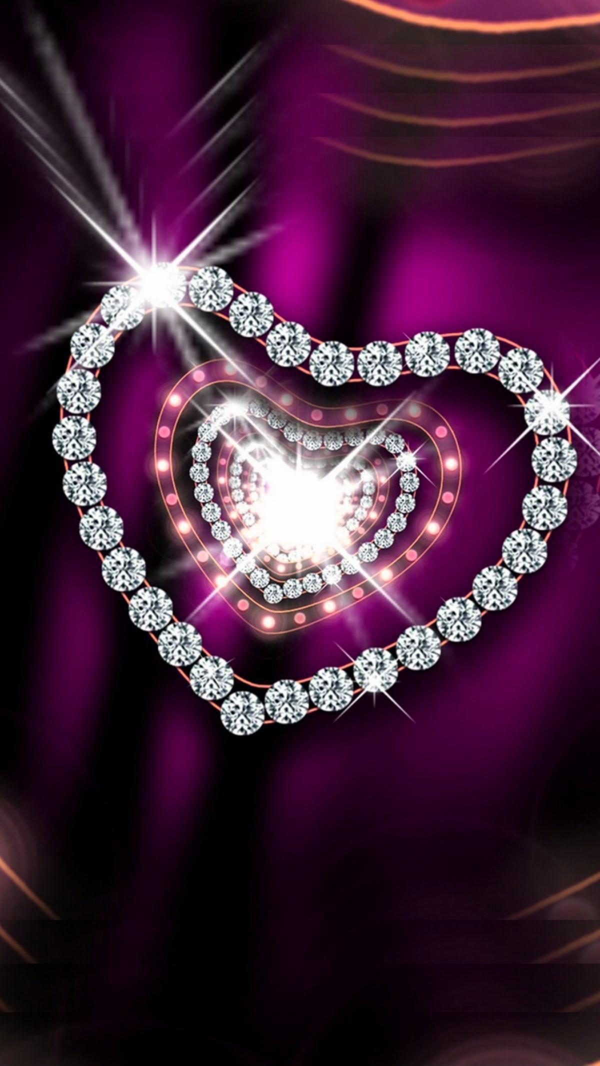 Purple and silver diamonds