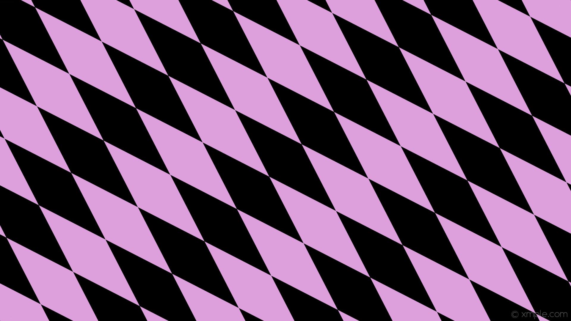 wallpaper lozenge black rhombus purple diamond plum #000000 #dda0dd 135°  480px 154px