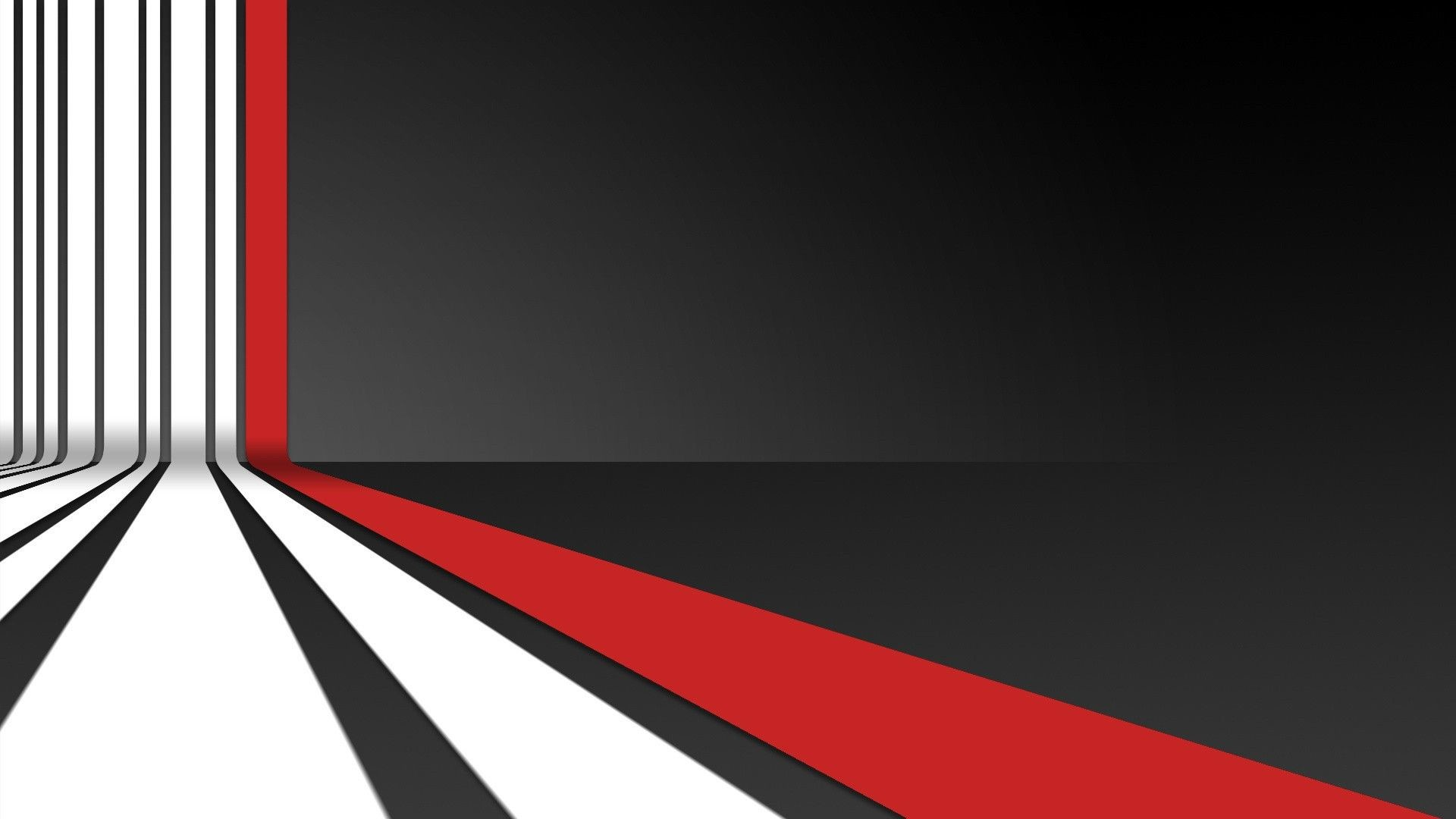 Black And White Abstract Red Wallpaper 1080P