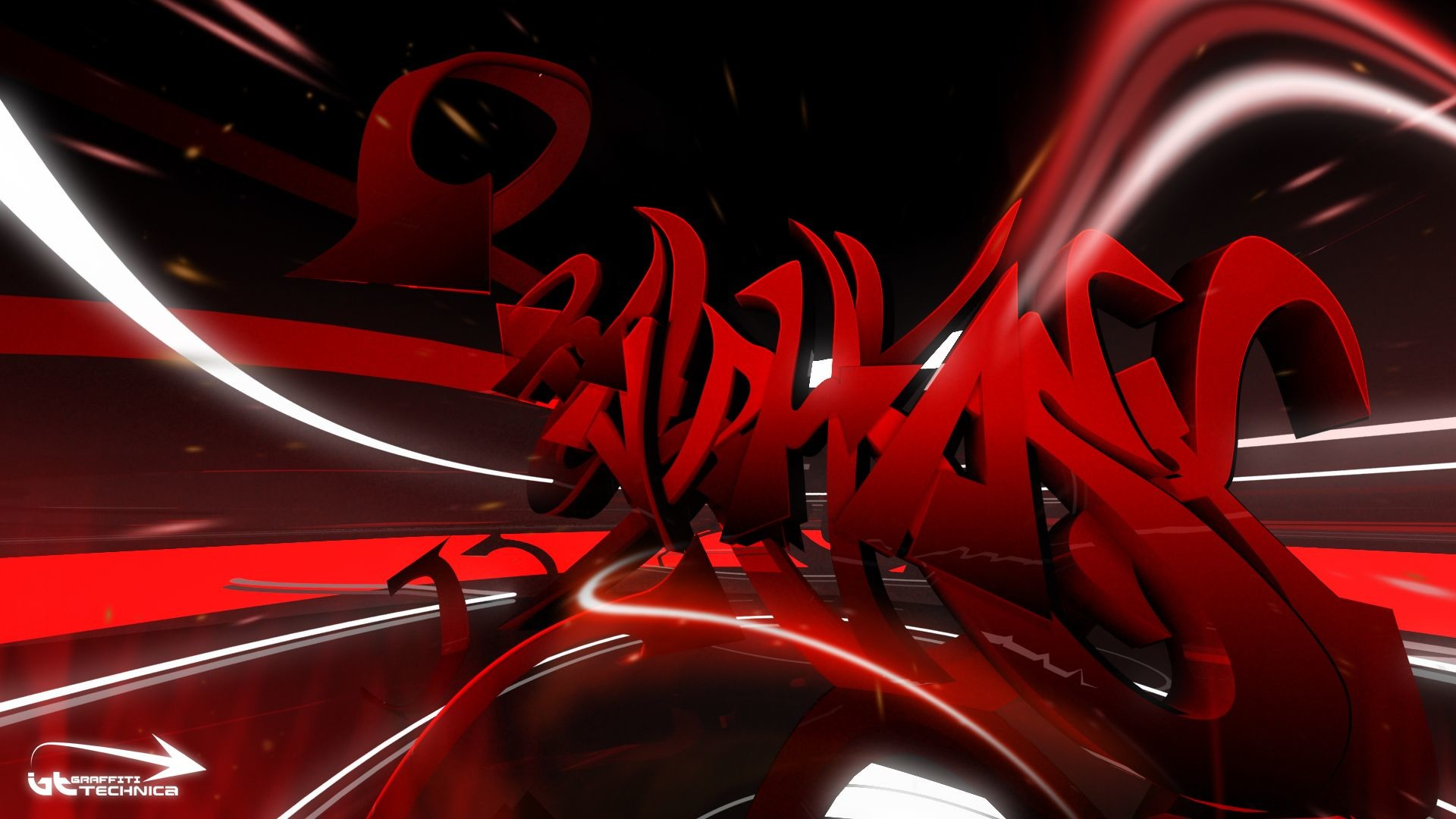 Abstract Art Black and White Red Wallpaper Cool HD