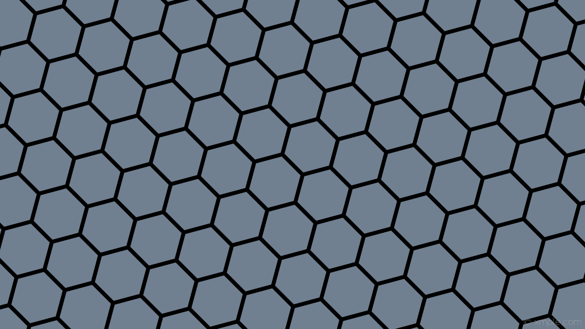wallpaper beehive honeycomb black hexagon grey slate gray #708090 #000000  diagonal 45° 13px