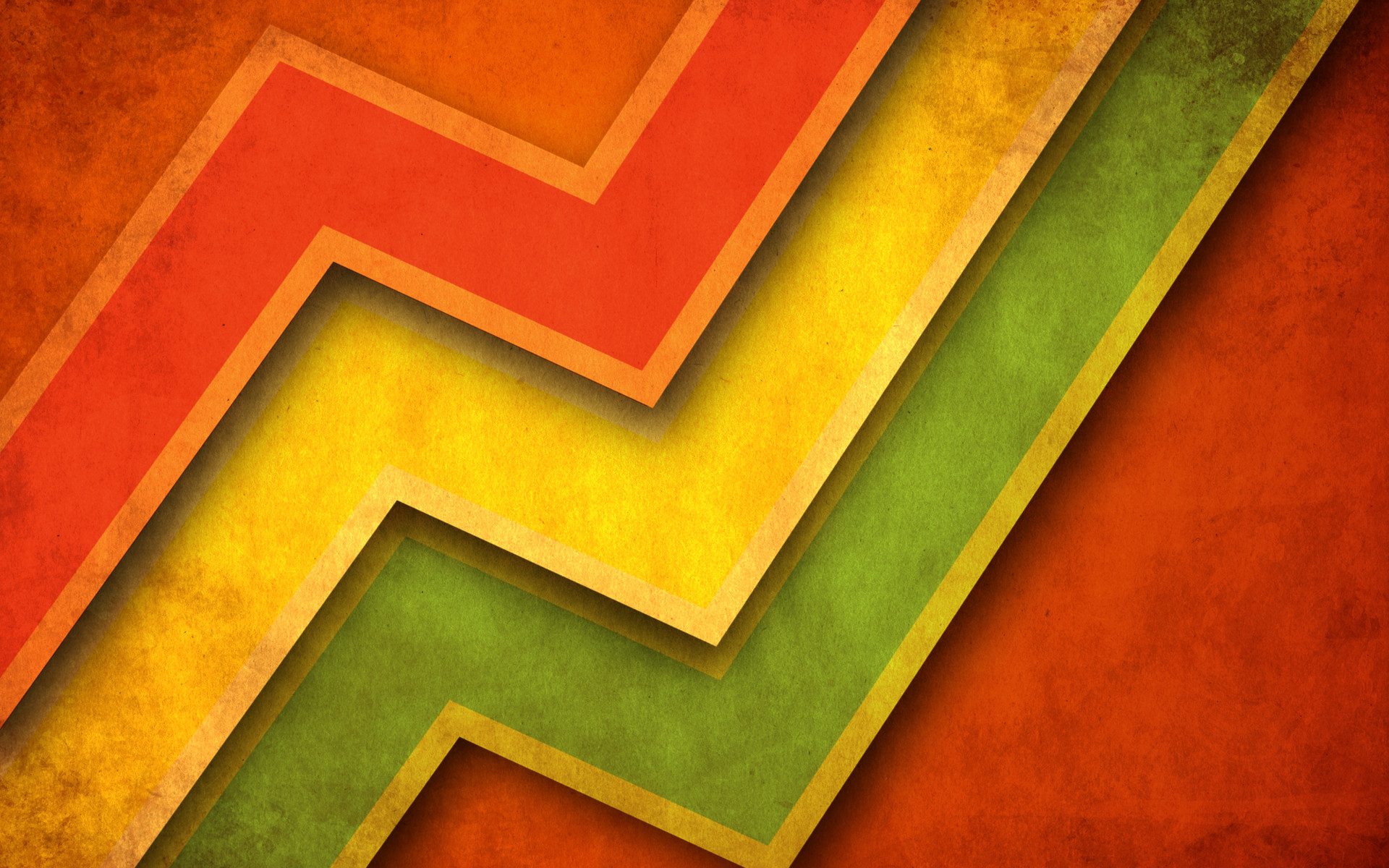 Abstract Design Green Grunge Multicolor Orange Yellow