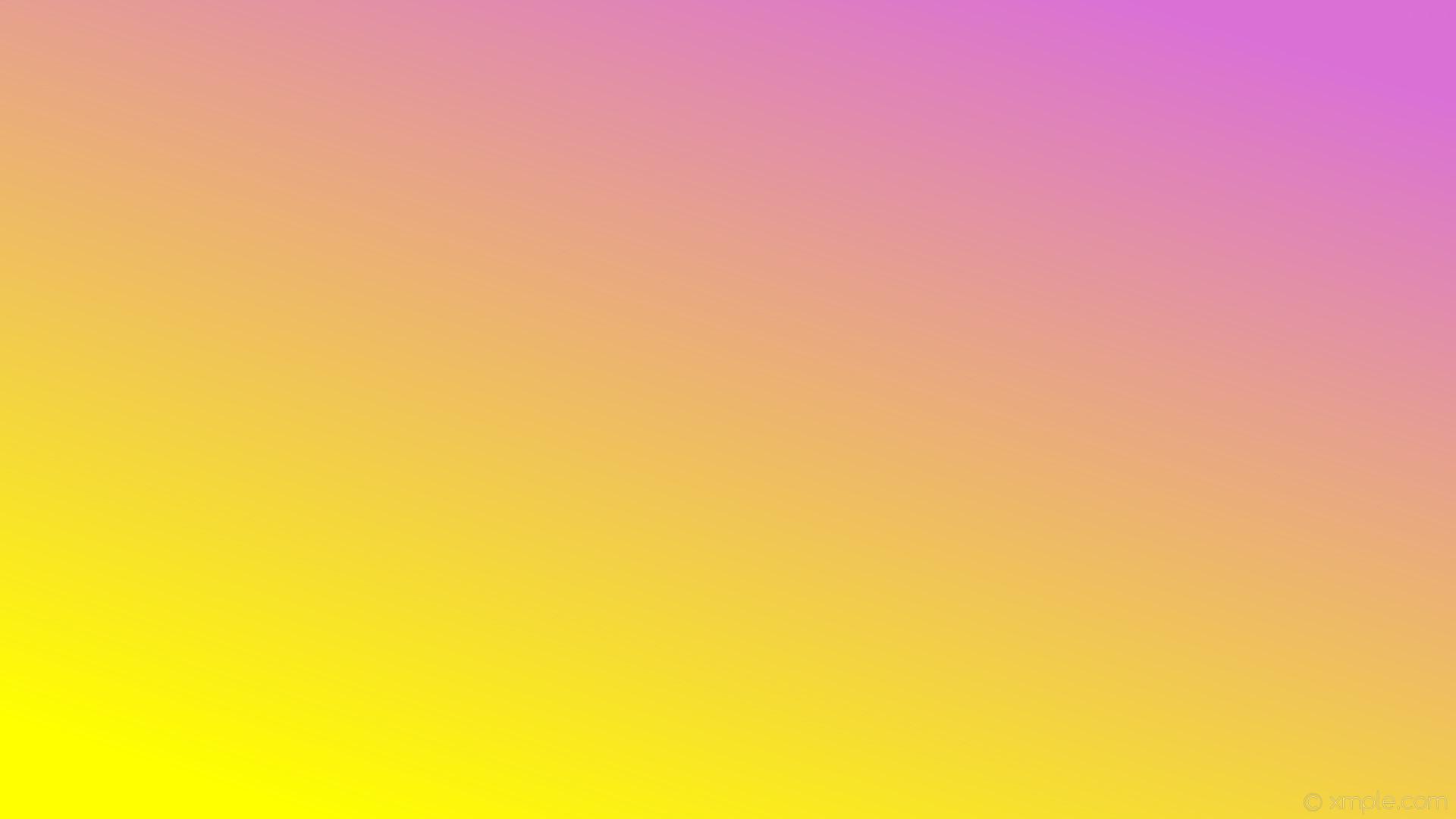 wallpaper yellow purple gradient linear orchid #ffff00 #da70d6 225°