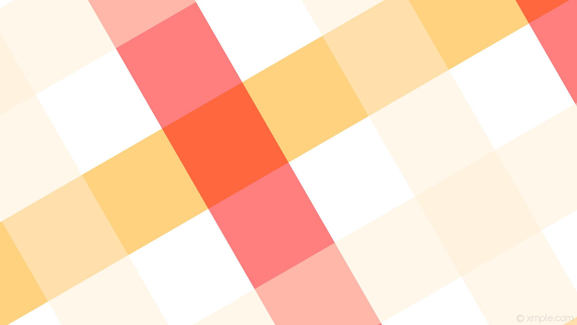 wallpaper red white quad gingham striped yellow orange papaya whip #ffffff  #ffa500 #ff0000
