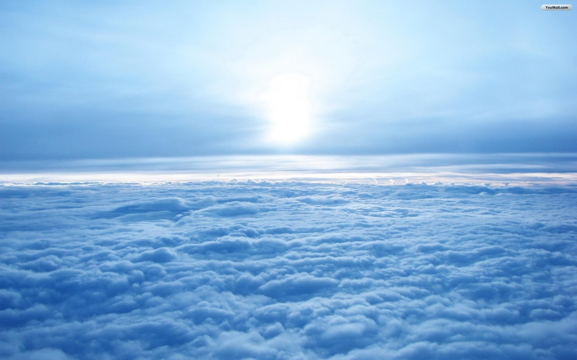 Above The Blue Clouds Wallpaper
