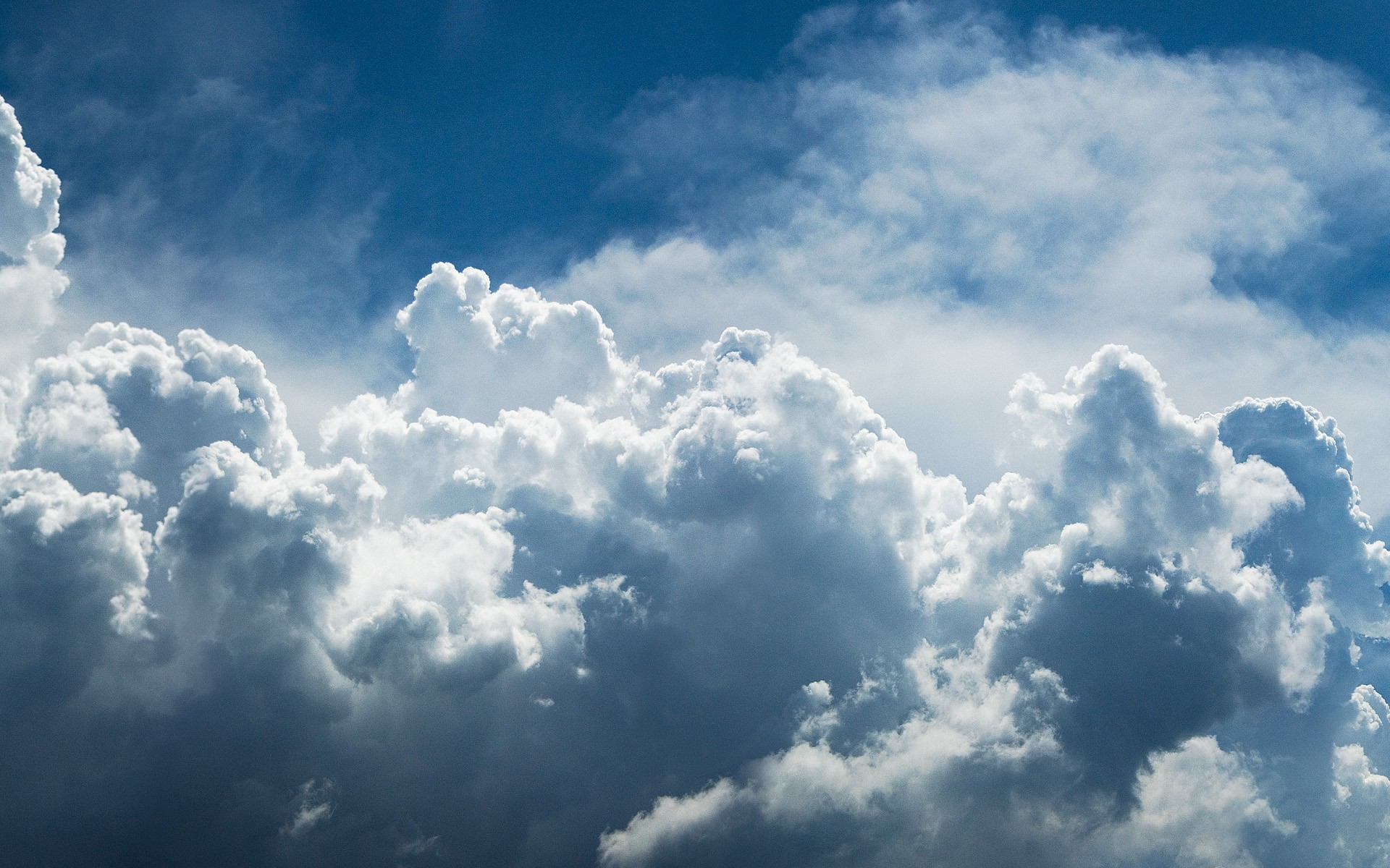 Blue clouds wallpapers and stock photos