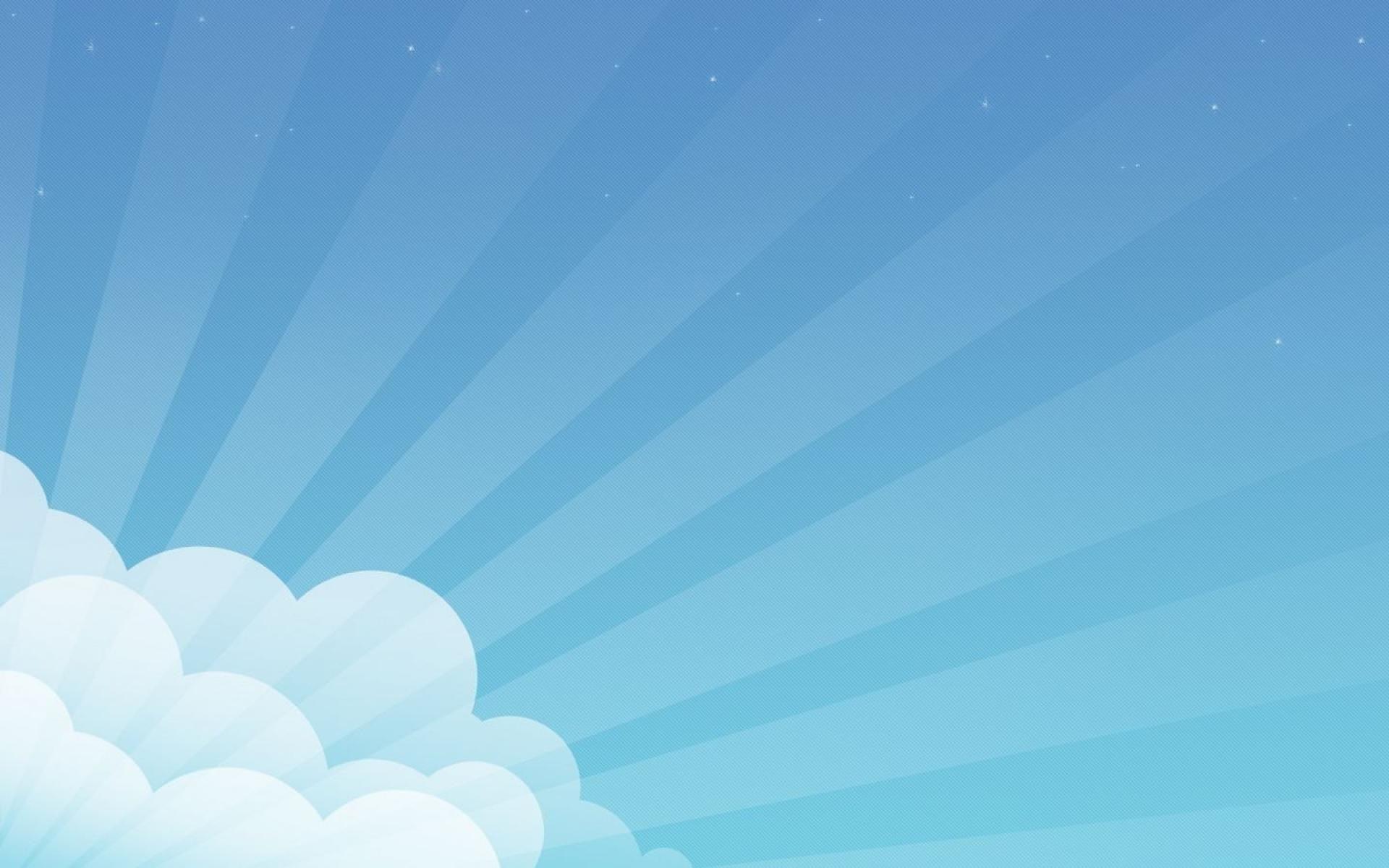 Blue Cloud Sunlight Vector Wallpaper