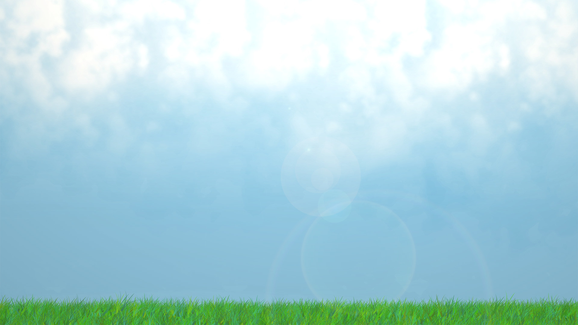 unibia s green grass and blue sky with clouds landscape wallpaper