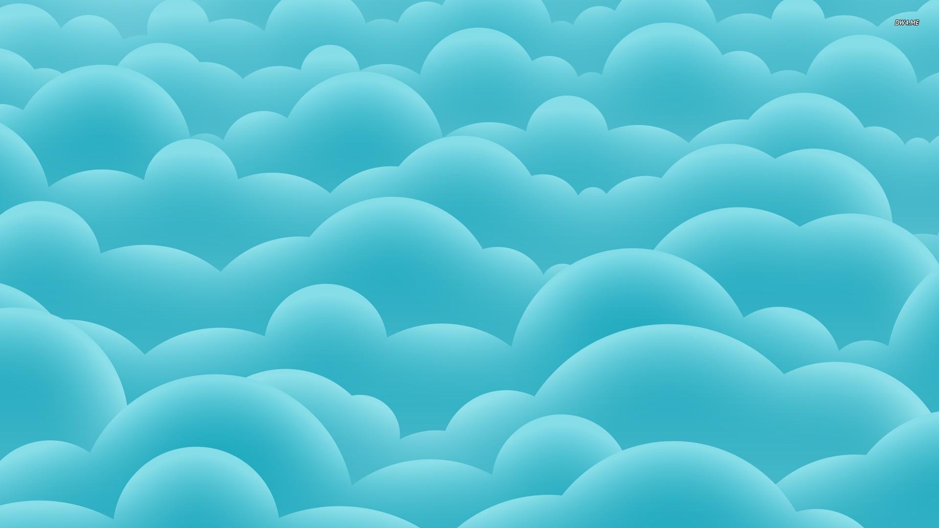 Digital Blue Cute Art Sky Clouds Hd Wallpaper Detail