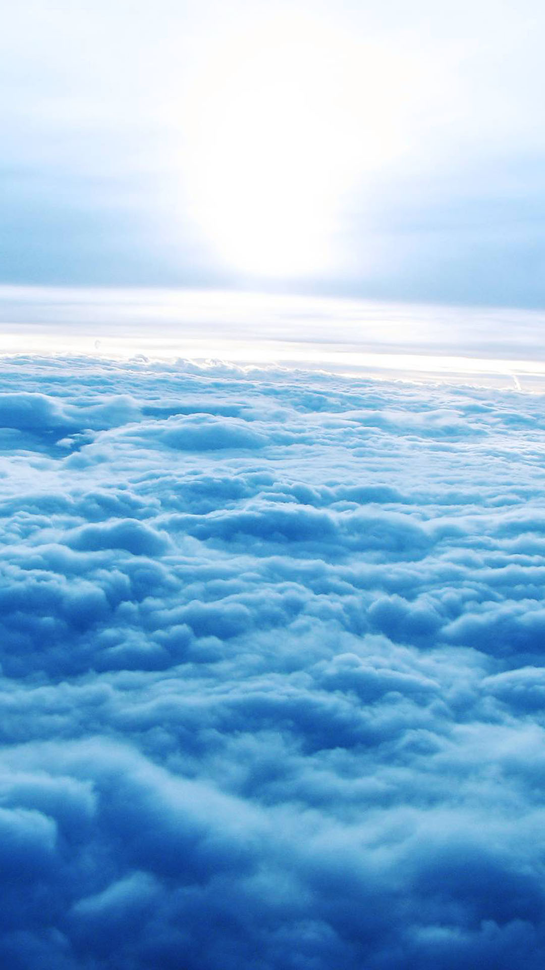 Soft Blue Clouds Aerial Android Wallpaper …