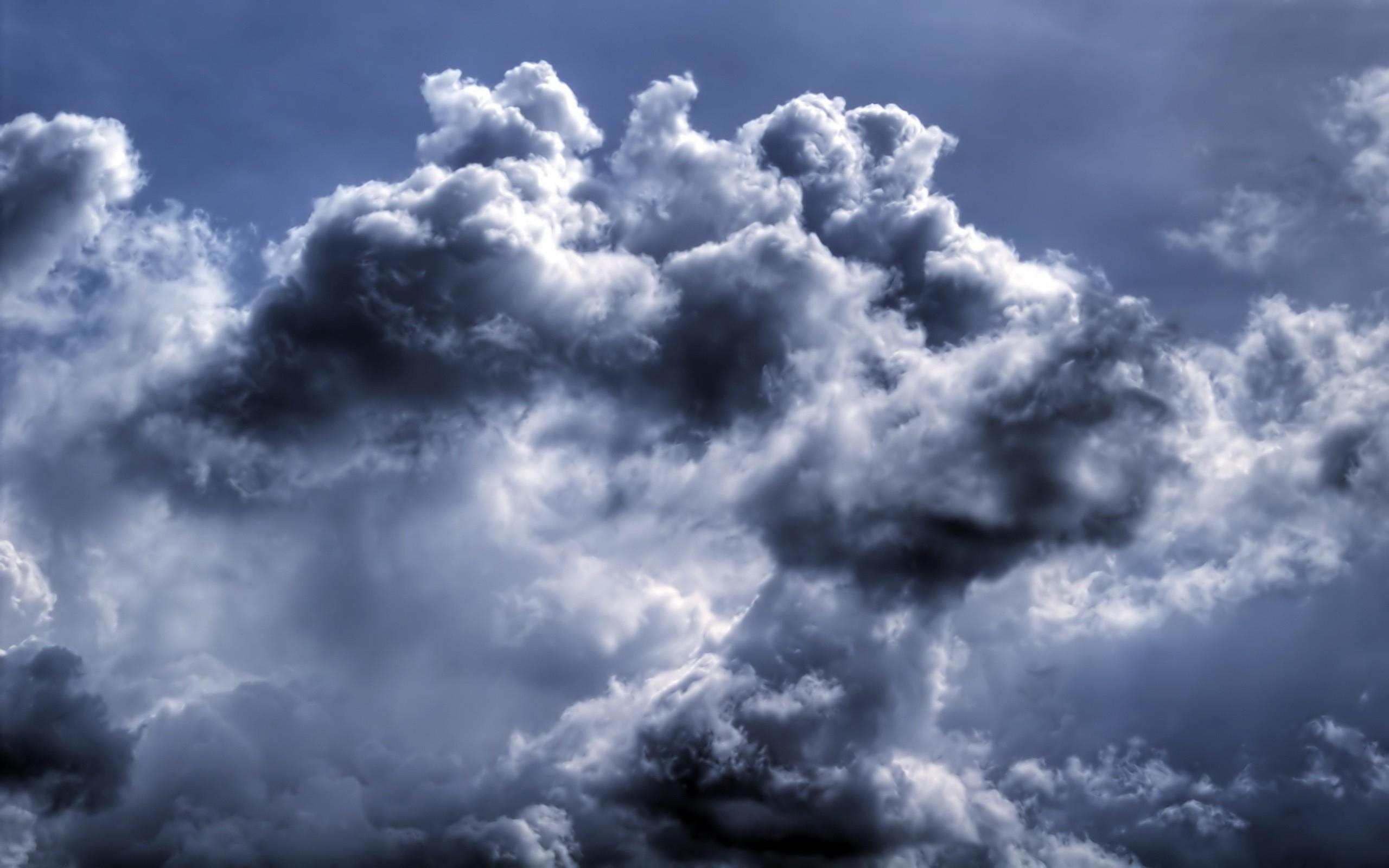 Sky In Dark Blue Clouds